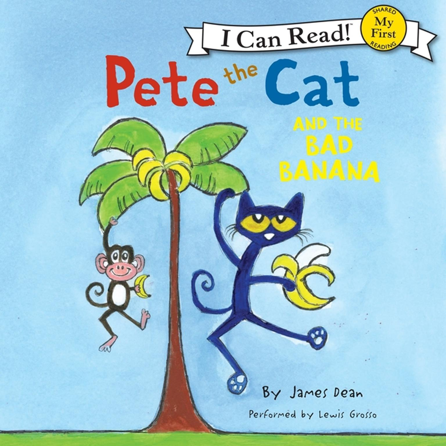 Printable Pete the Cat and the Bad Banana Audiobook Cover Art