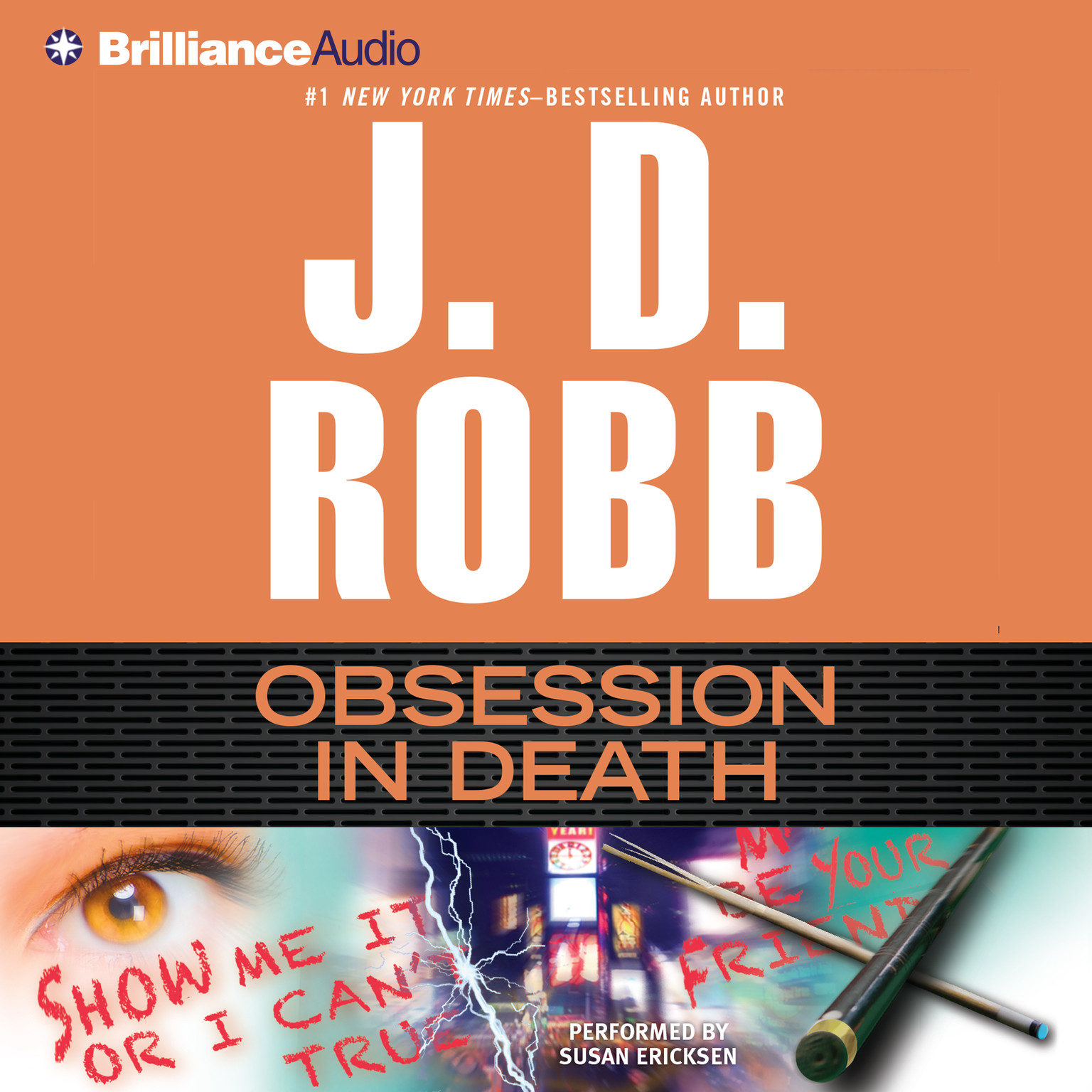 Printable Obsession in Death Audiobook Cover Art