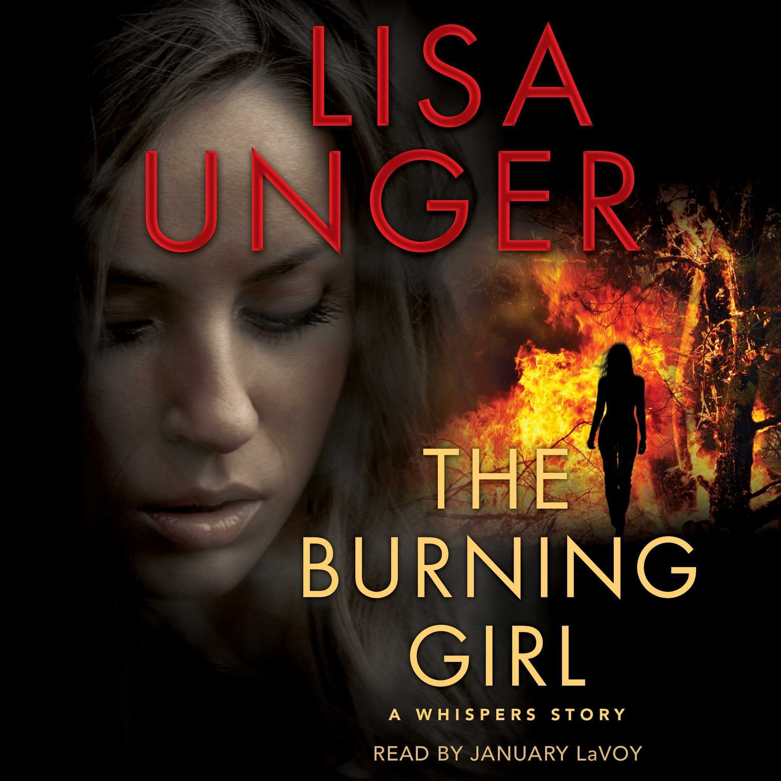 Printable The Burning Girl: A Whispers Story Audiobook Cover Art