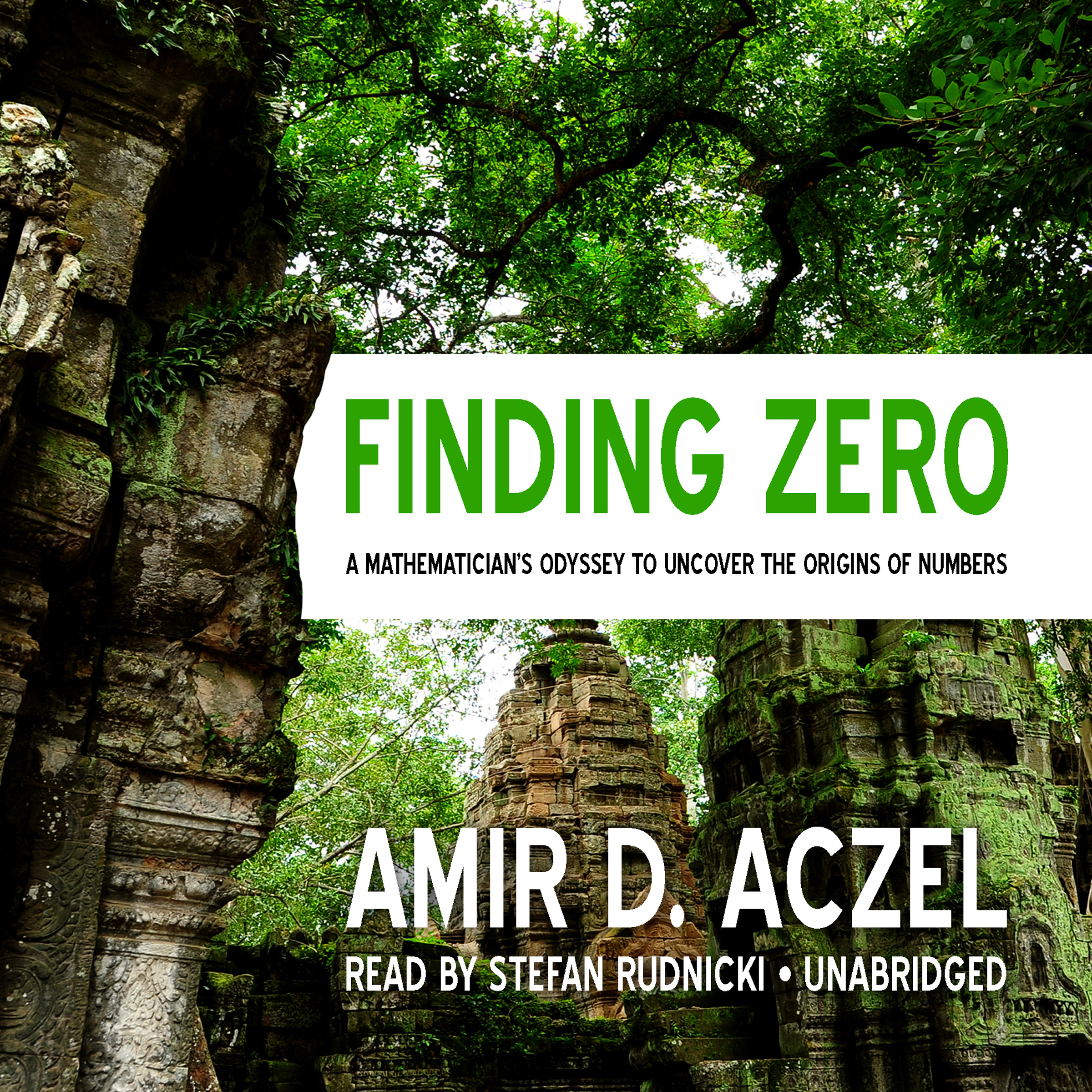 Printable Finding Zero: A Mathematician's Odyssey to Uncover the Origins of Numbers Audiobook Cover Art