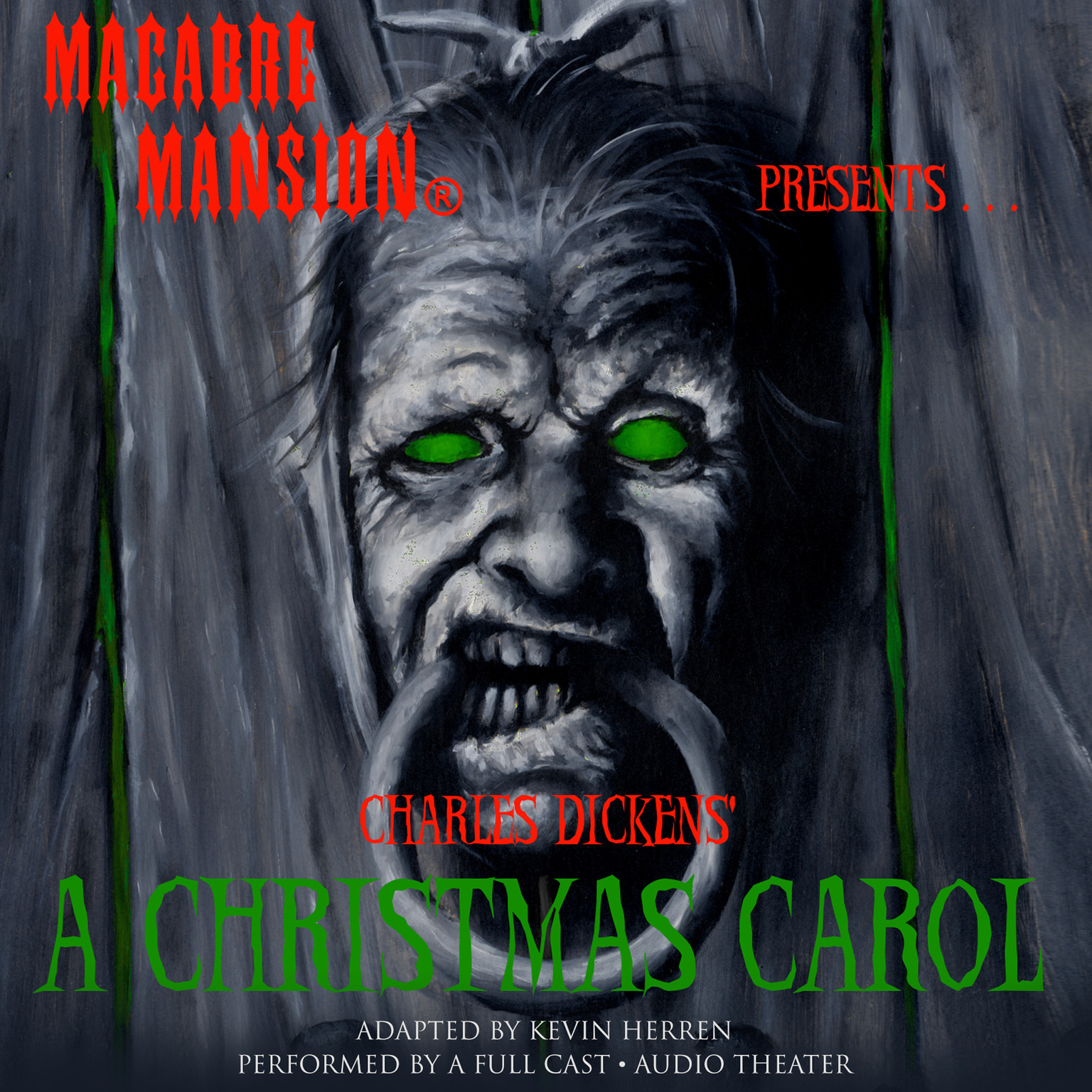 Printable Macabre Mansion Presents … A Christmas Carol Audiobook Cover Art