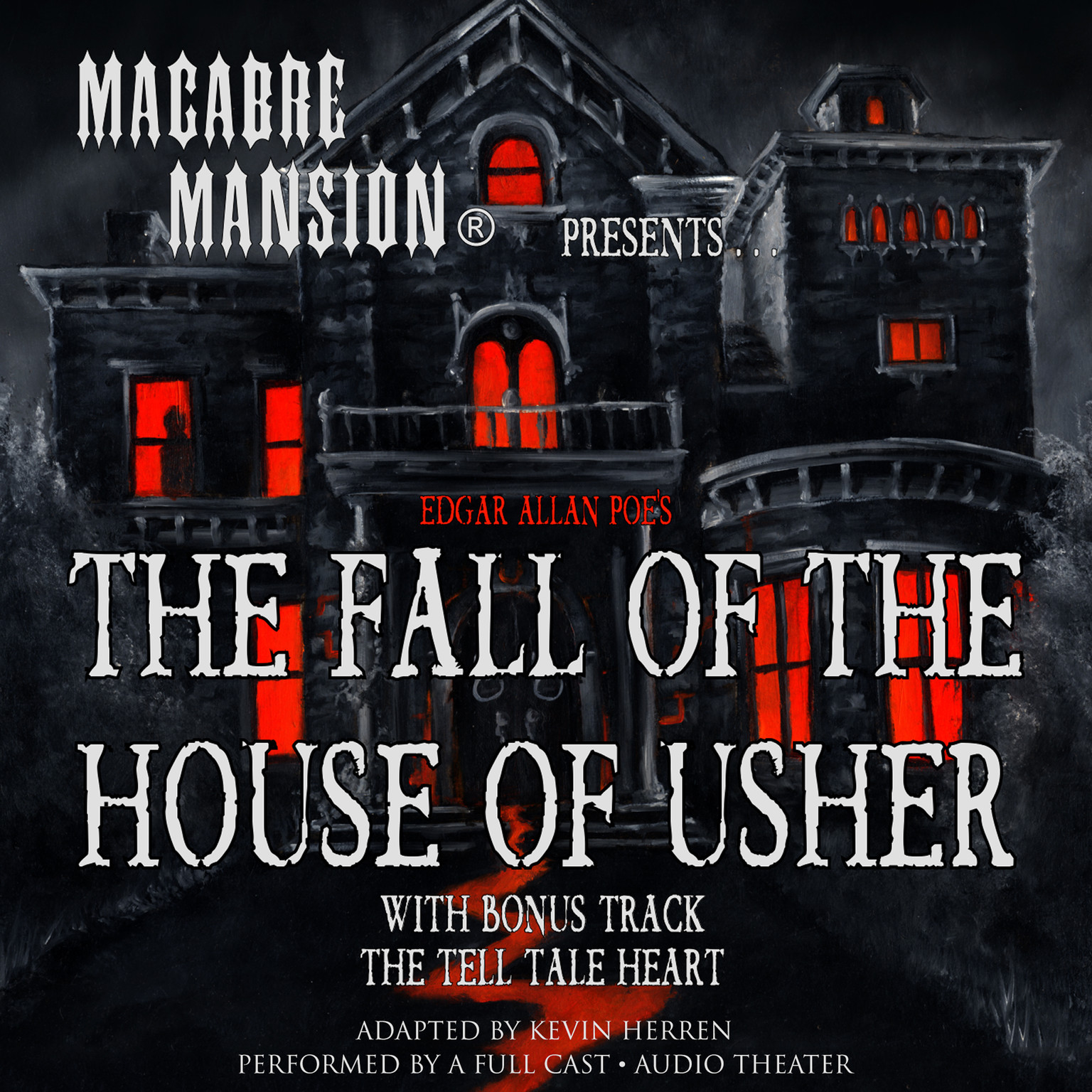 Printable Macabre Mansion Presents … The Fall of the House of Usher Audiobook Cover Art
