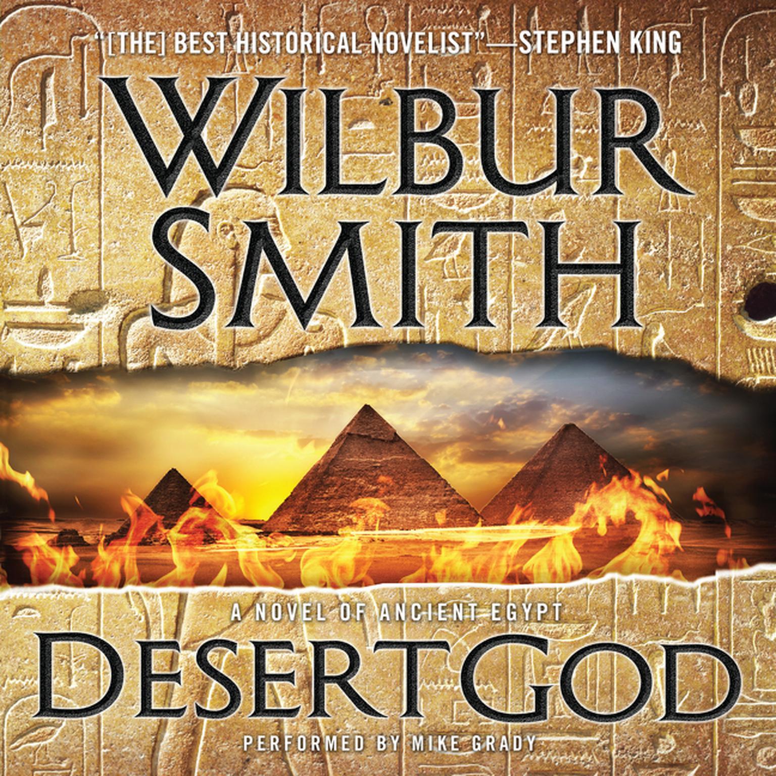 Printable Desert God: A Novel of Ancient Egypt Audiobook Cover Art