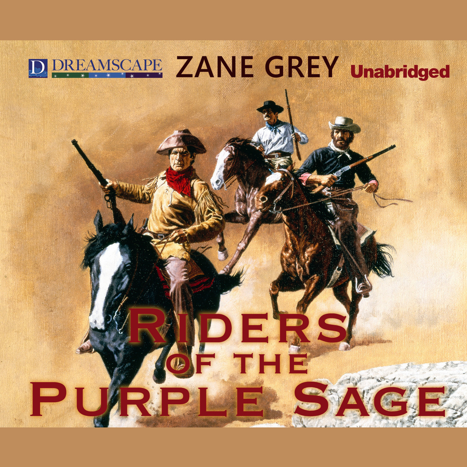 Printable Riders of the Purple Sage Audiobook Cover Art