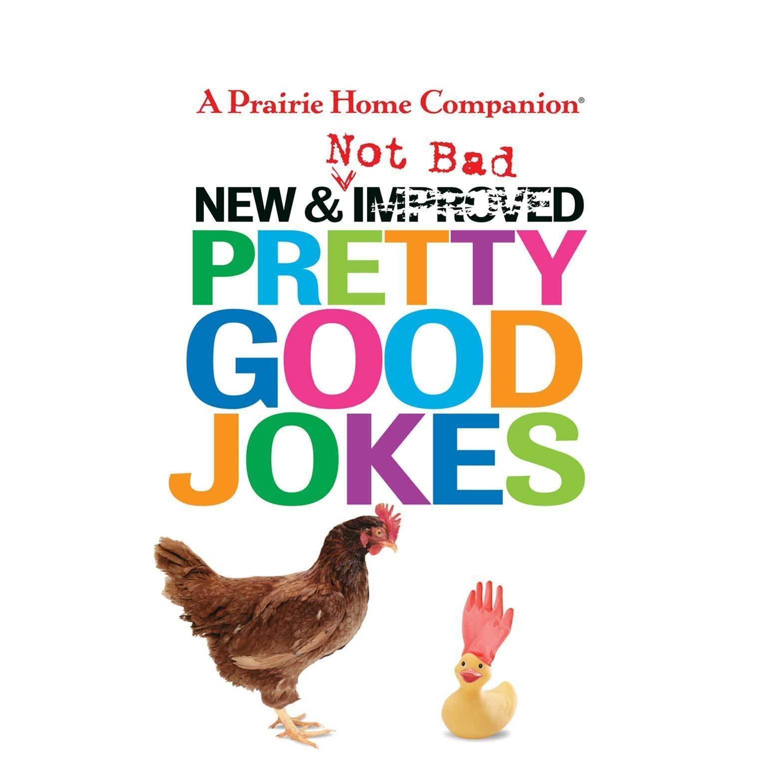 Printable New and Not Bad Pretty Good Jokes Audiobook Cover Art