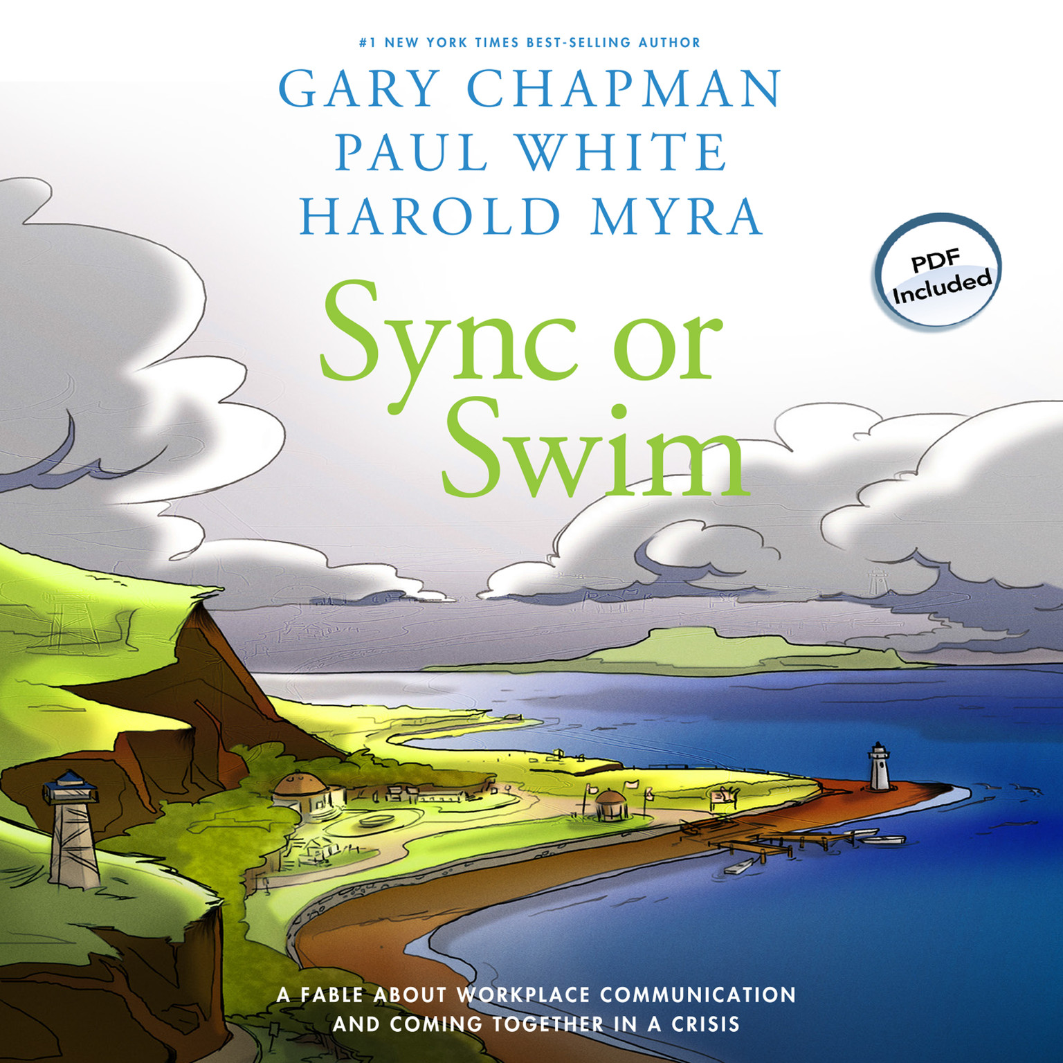 Printable Sync or Swim: A Fable about Workplace Communication and Coming Together in a Crisis Audiobook Cover Art