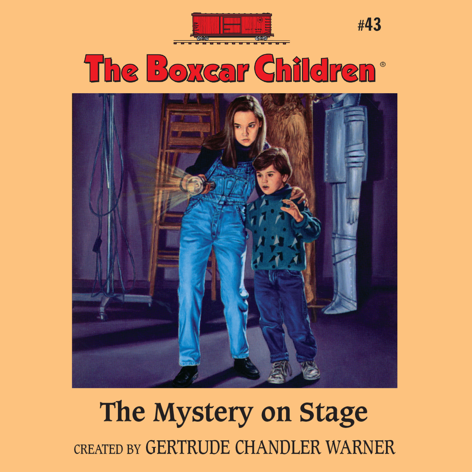 Printable The Mystery on Stage Audiobook Cover Art