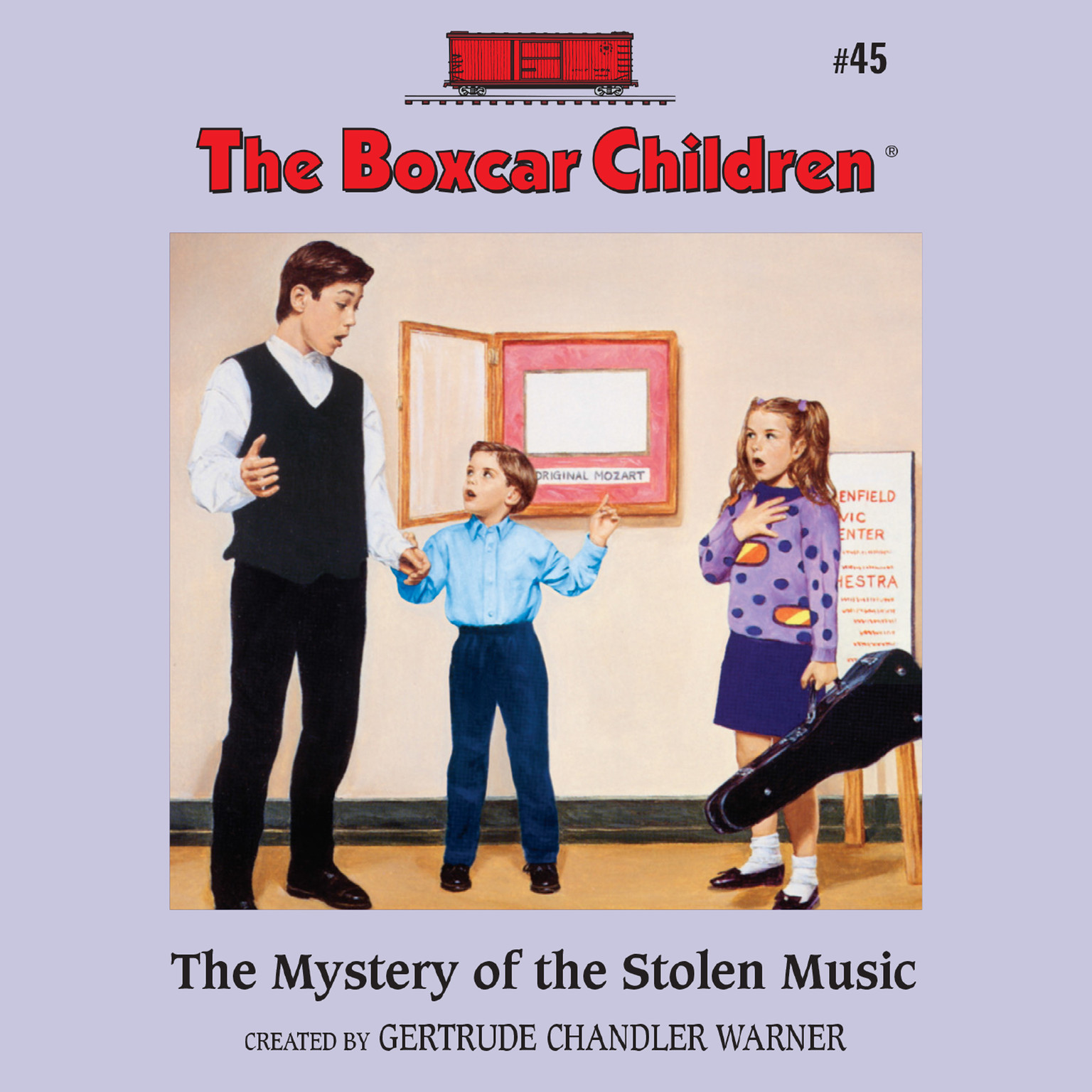 Printable The Mystery of the Stolen Music Audiobook Cover Art
