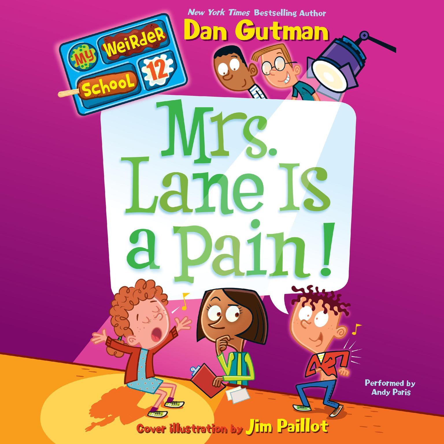 Printable My Weirder School #12: Mrs. Lane Is a Pain! Audiobook Cover Art