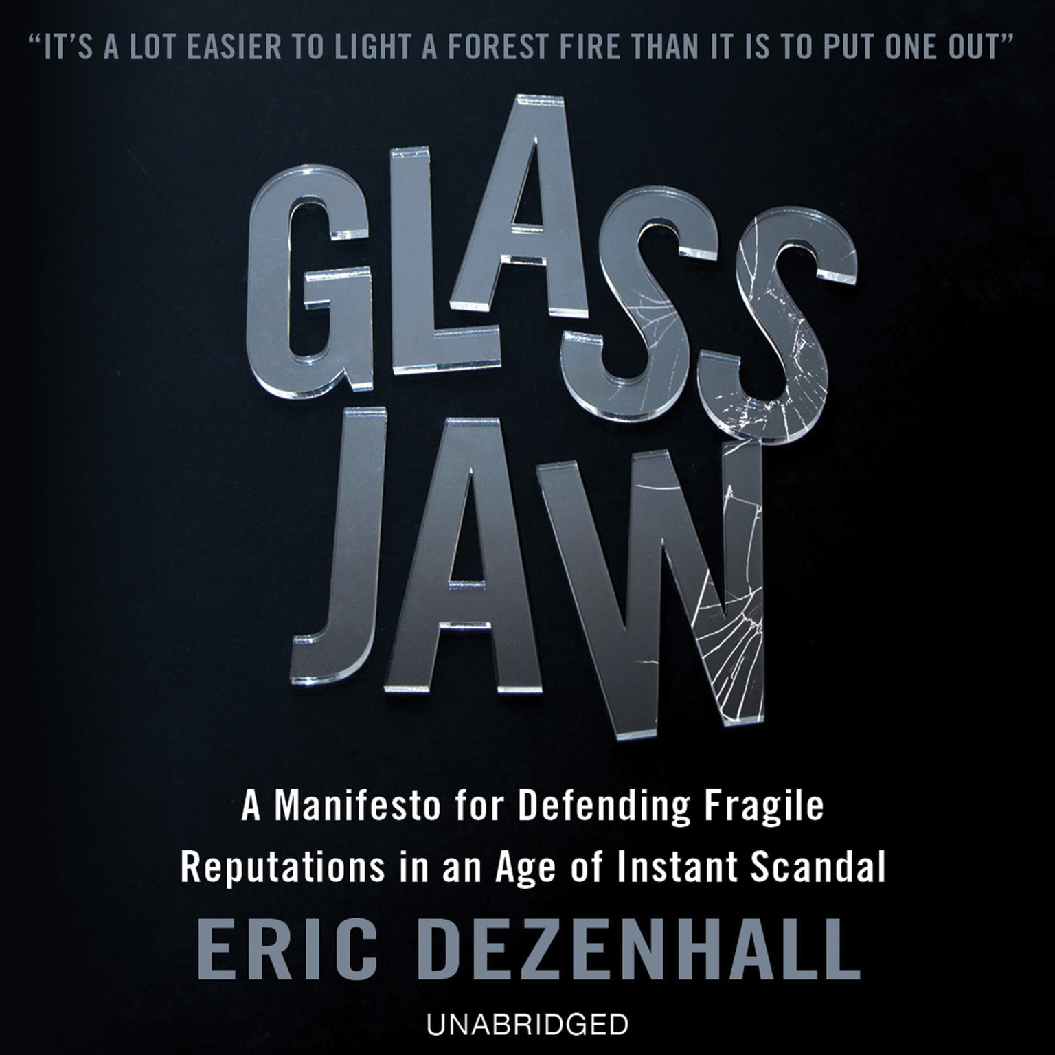 Printable Glass Jaw: A Manifesto for Defending Fragile Reputations in an Age of Instant Scandal Audiobook Cover Art