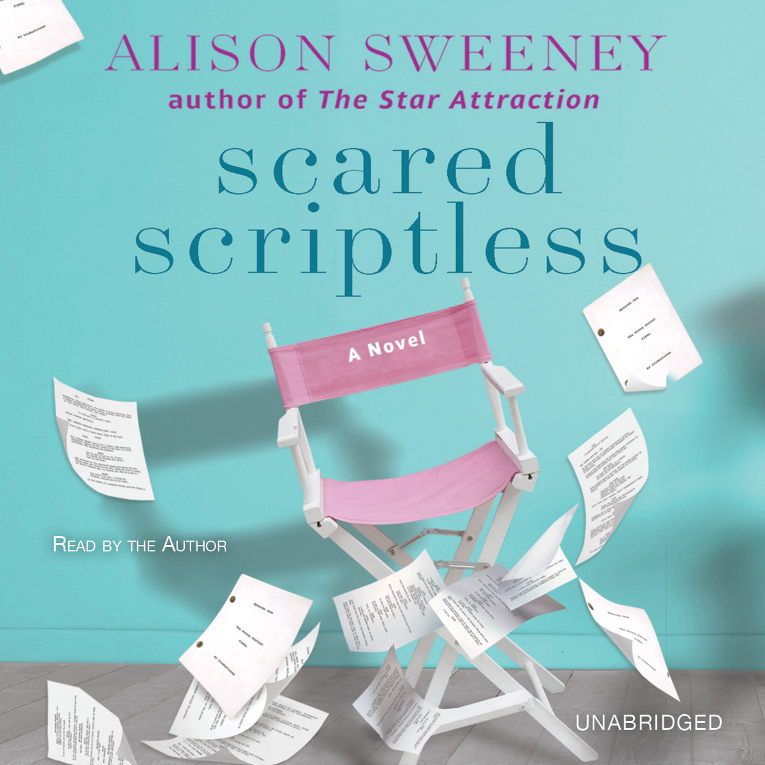 Printable Scared Scriptless: A Novel Audiobook Cover Art