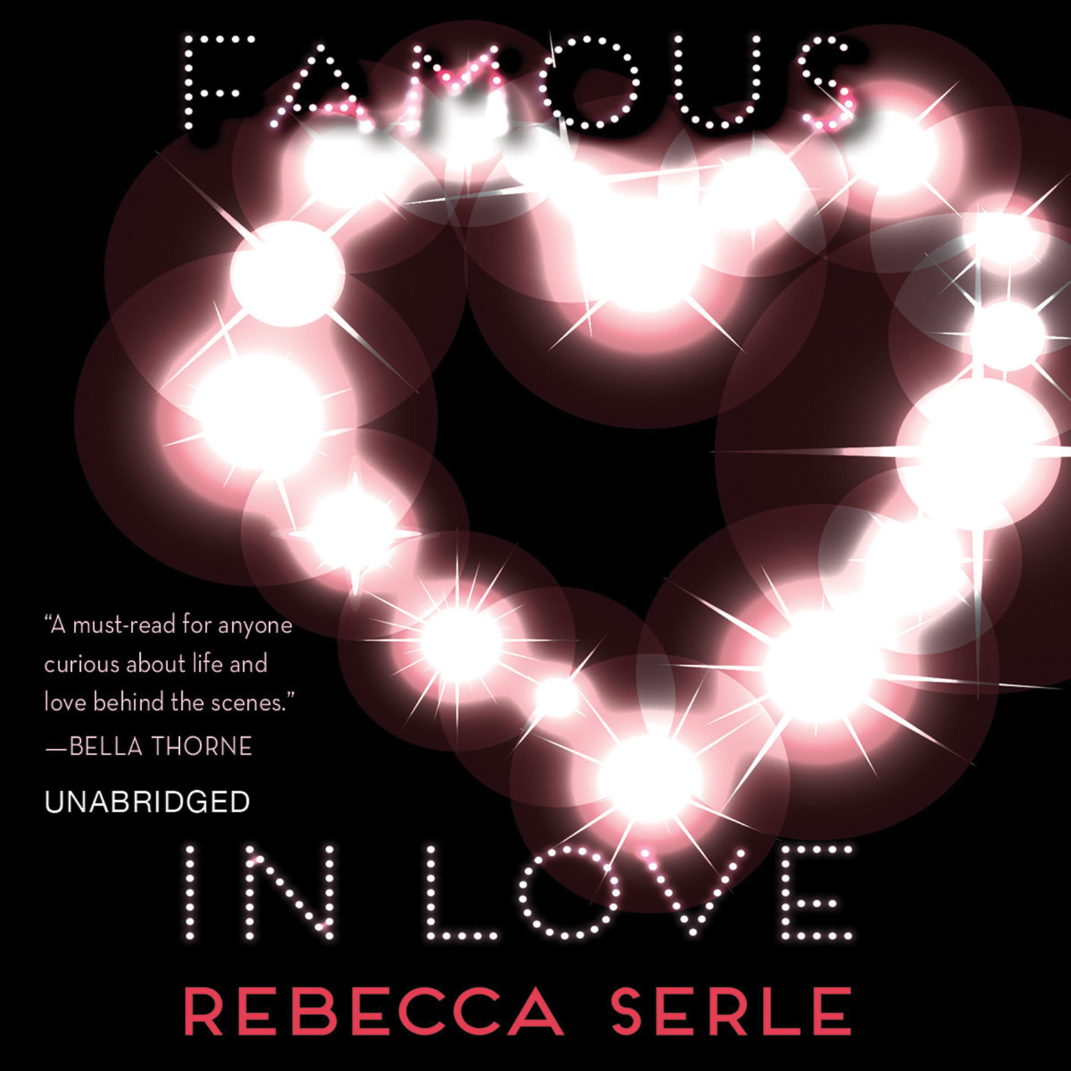 Printable Famous in Love Audiobook Cover Art