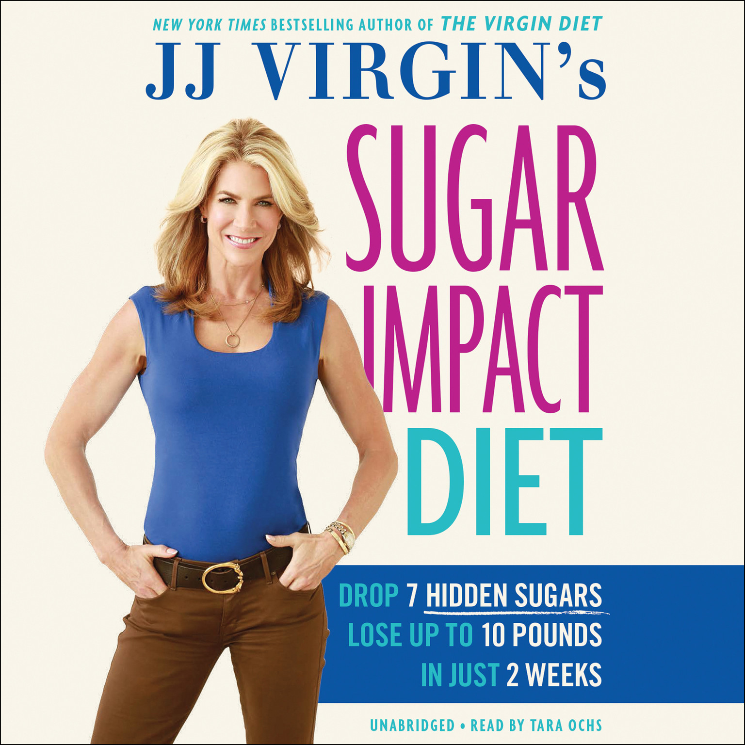 Printable JJ Virgin's Sugar Impact Diet: Drop 7 Hidden Sugars, Lose Up to 10 Pounds in Just 2 Weeks Audiobook Cover Art
