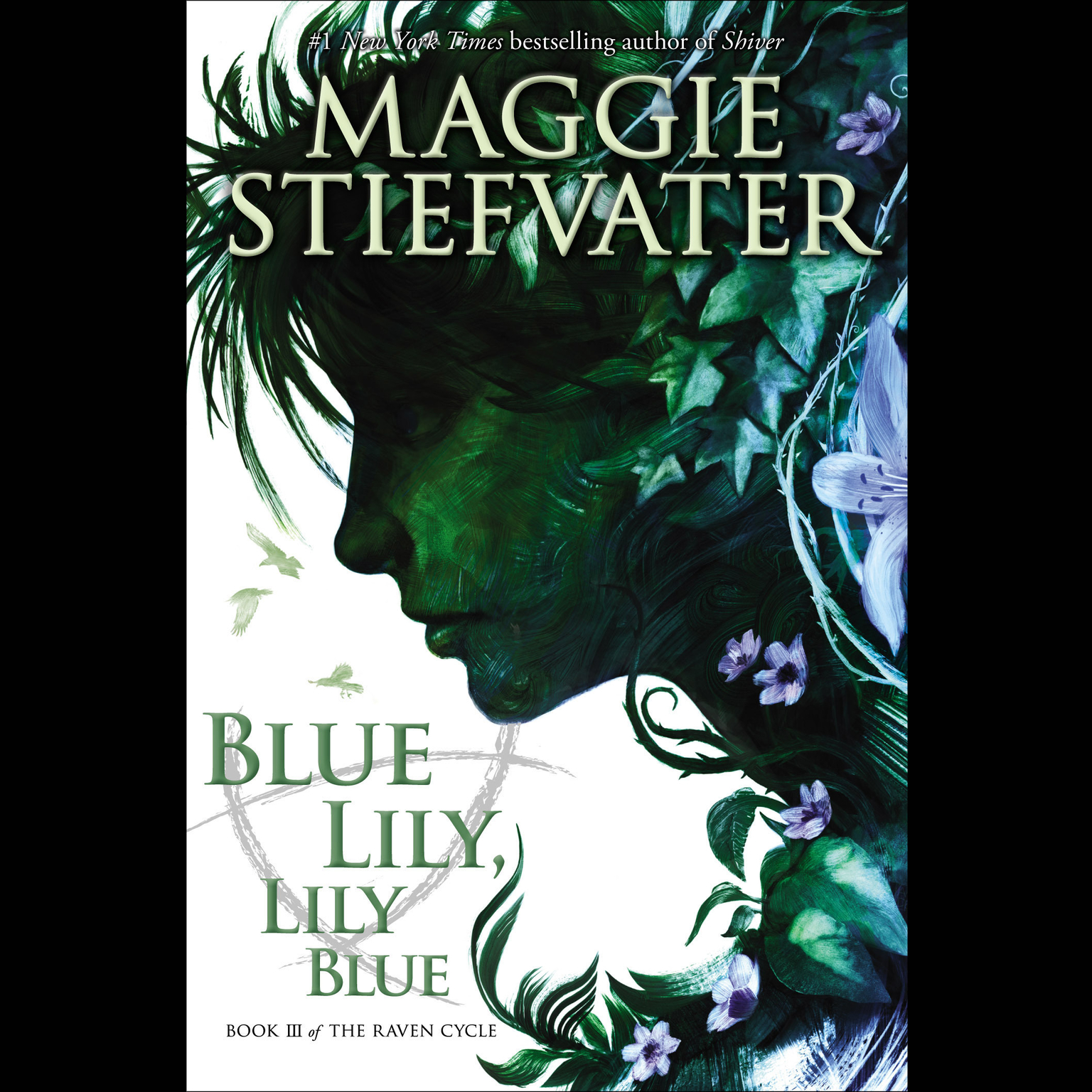 Printable Blue Lily, Lily Blue Audiobook Cover Art