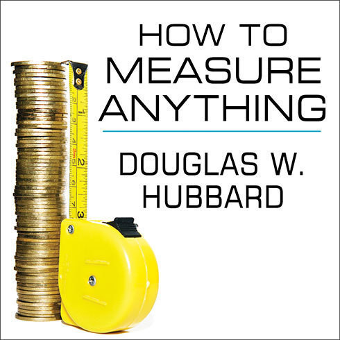 "Printable How to Measure Anything: Finding the Value of ""Intangibles"" in Business Audiobook Cover Art"