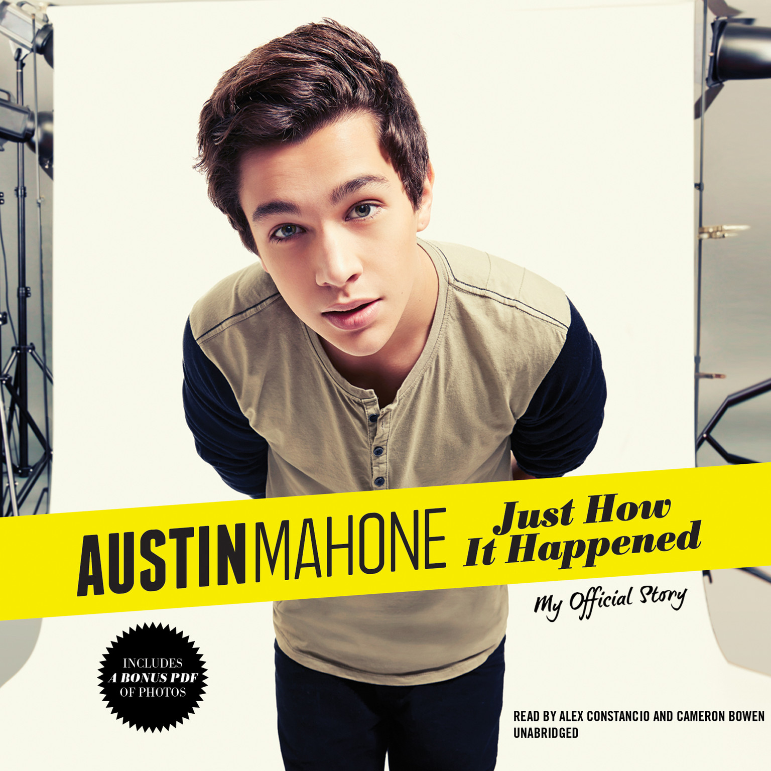 Printable Austin Mahone: Just How It Happened; My Official Story Audiobook Cover Art