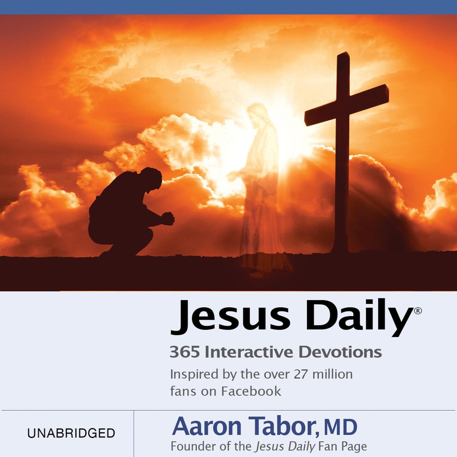 Printable Jesus Daily: 365 Interactive Devotions Audiobook Cover Art