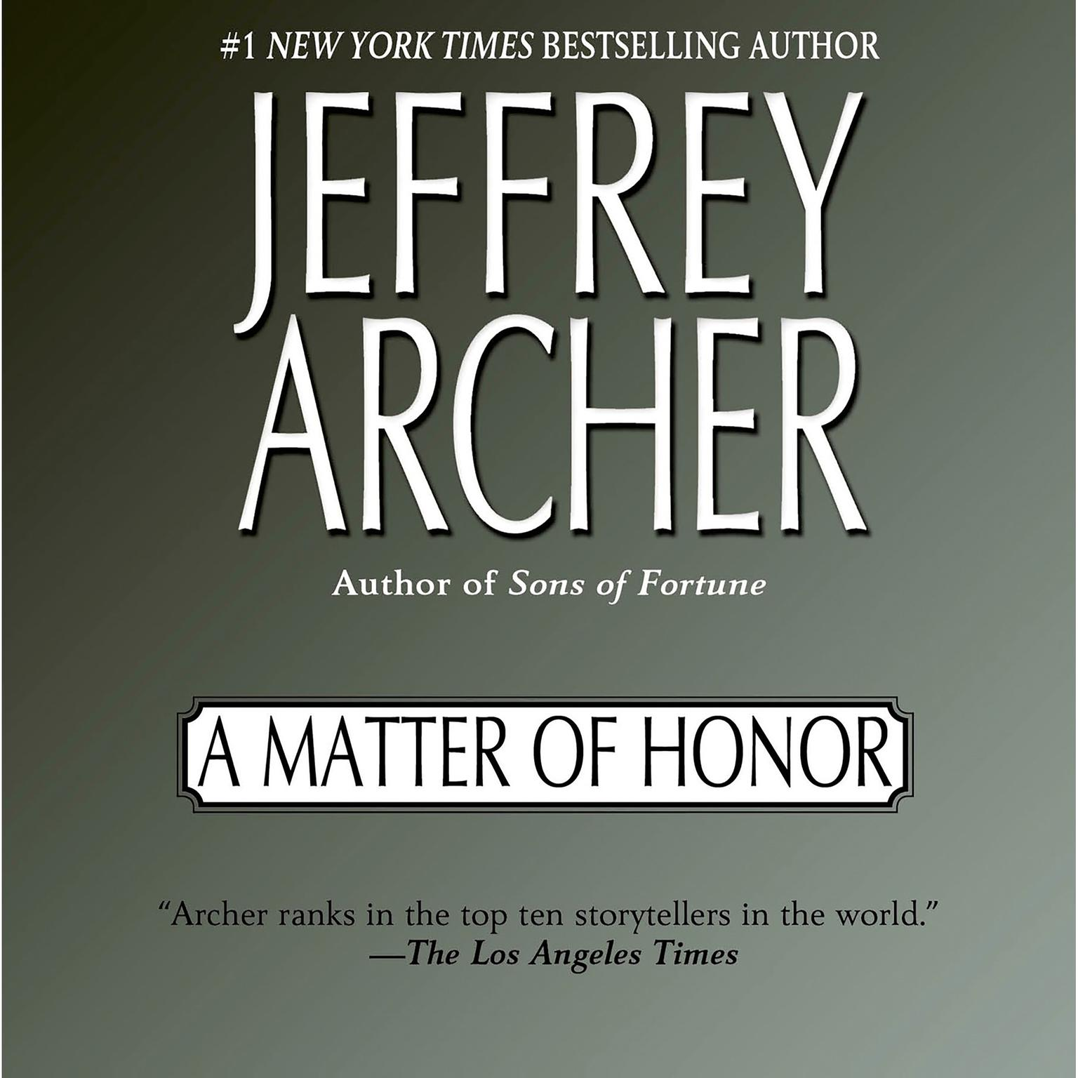 Printable A Matter of Honor Audiobook Cover Art