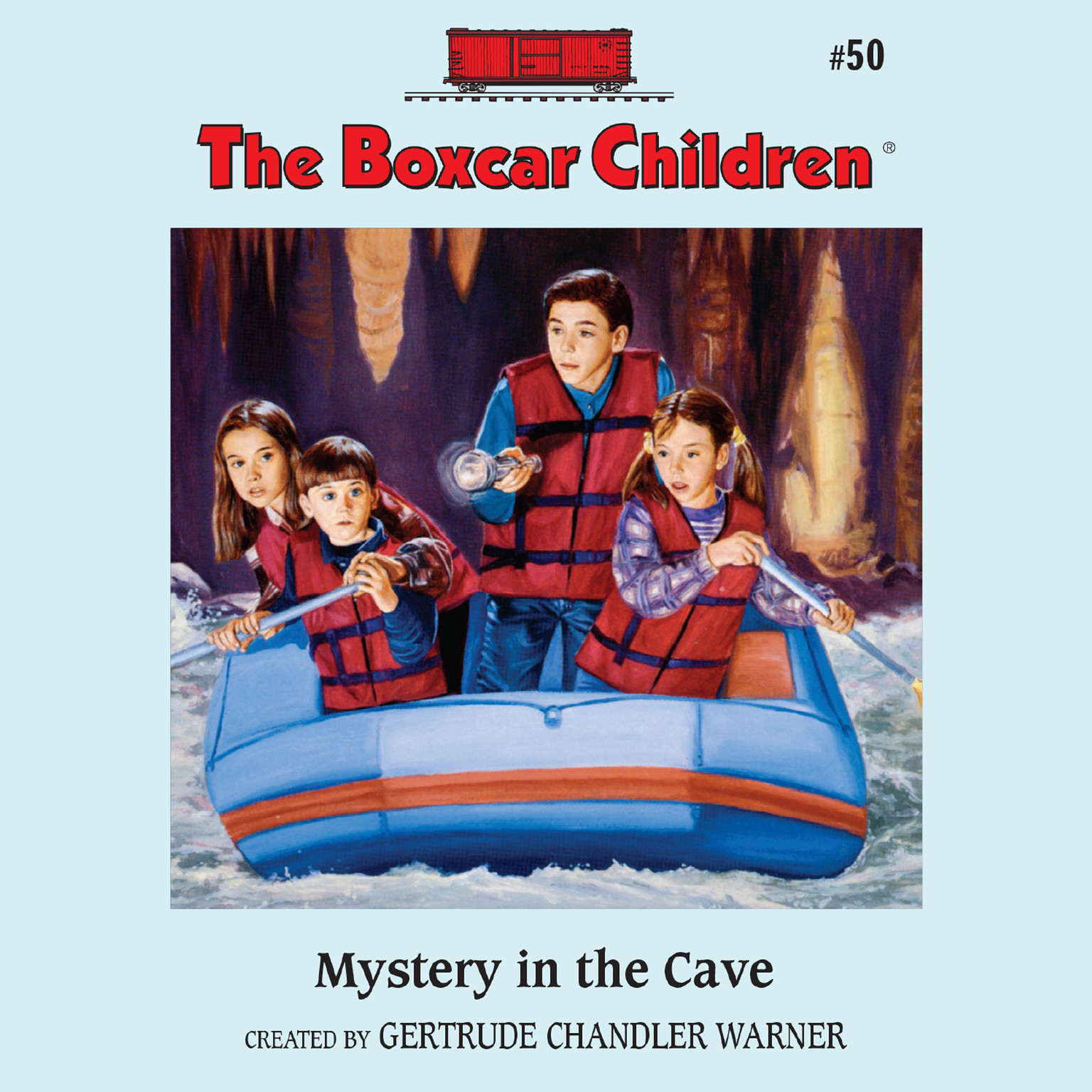 Printable The Mystery in the Cave Audiobook Cover Art