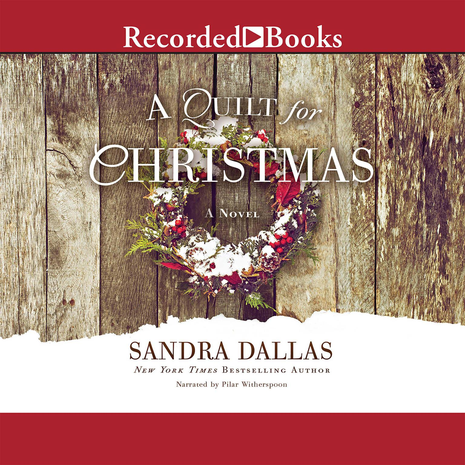 Printable A Quilt for Christmas: A Novel Audiobook Cover Art