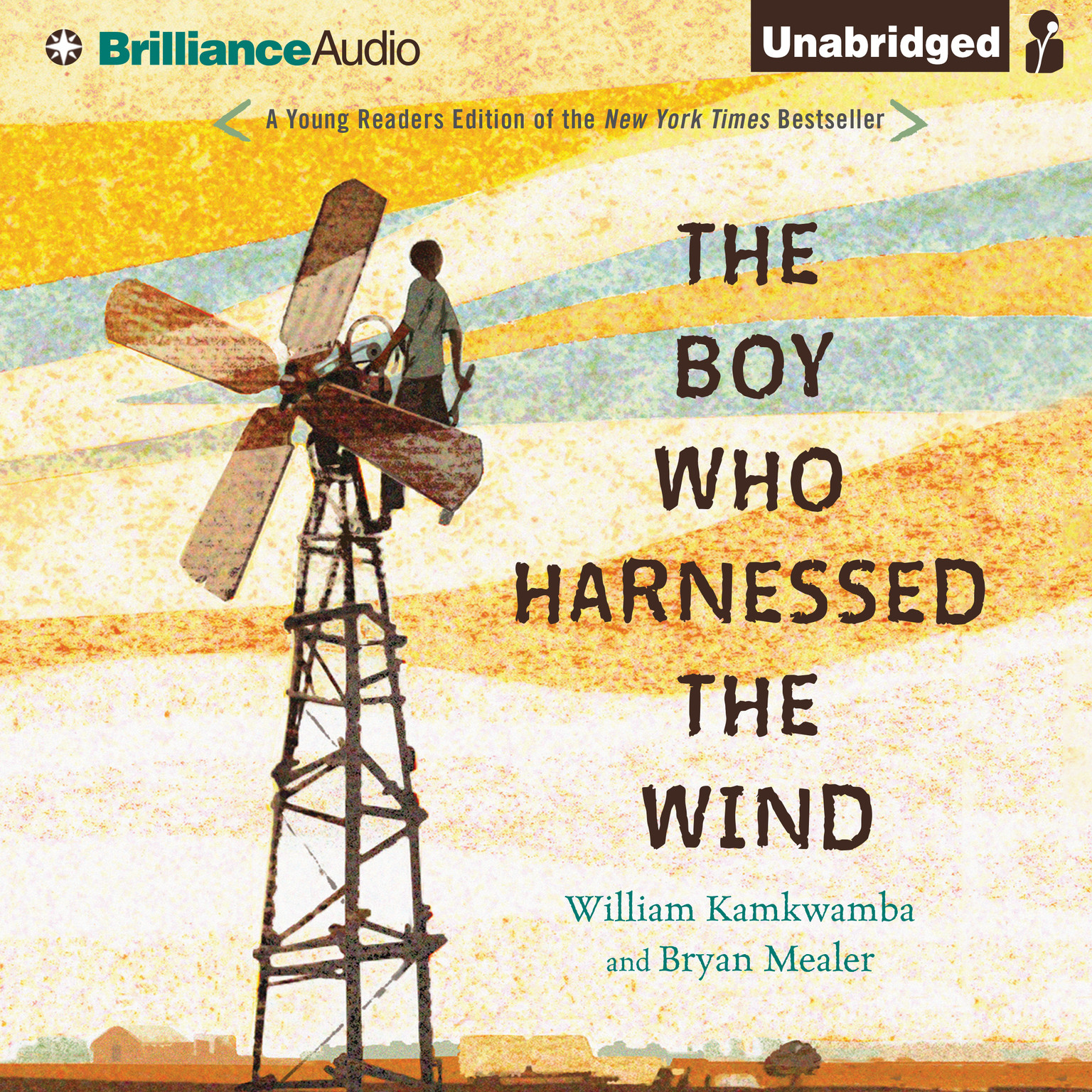 Printable The Boy Who Harnessed the Wind: Young Readers Edition Audiobook Cover Art