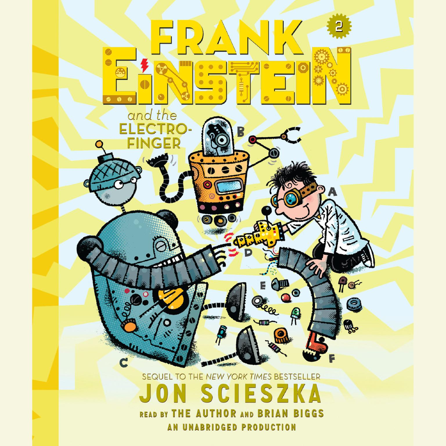 Printable Frank Einstein and the Electro-Finger Audiobook Cover Art