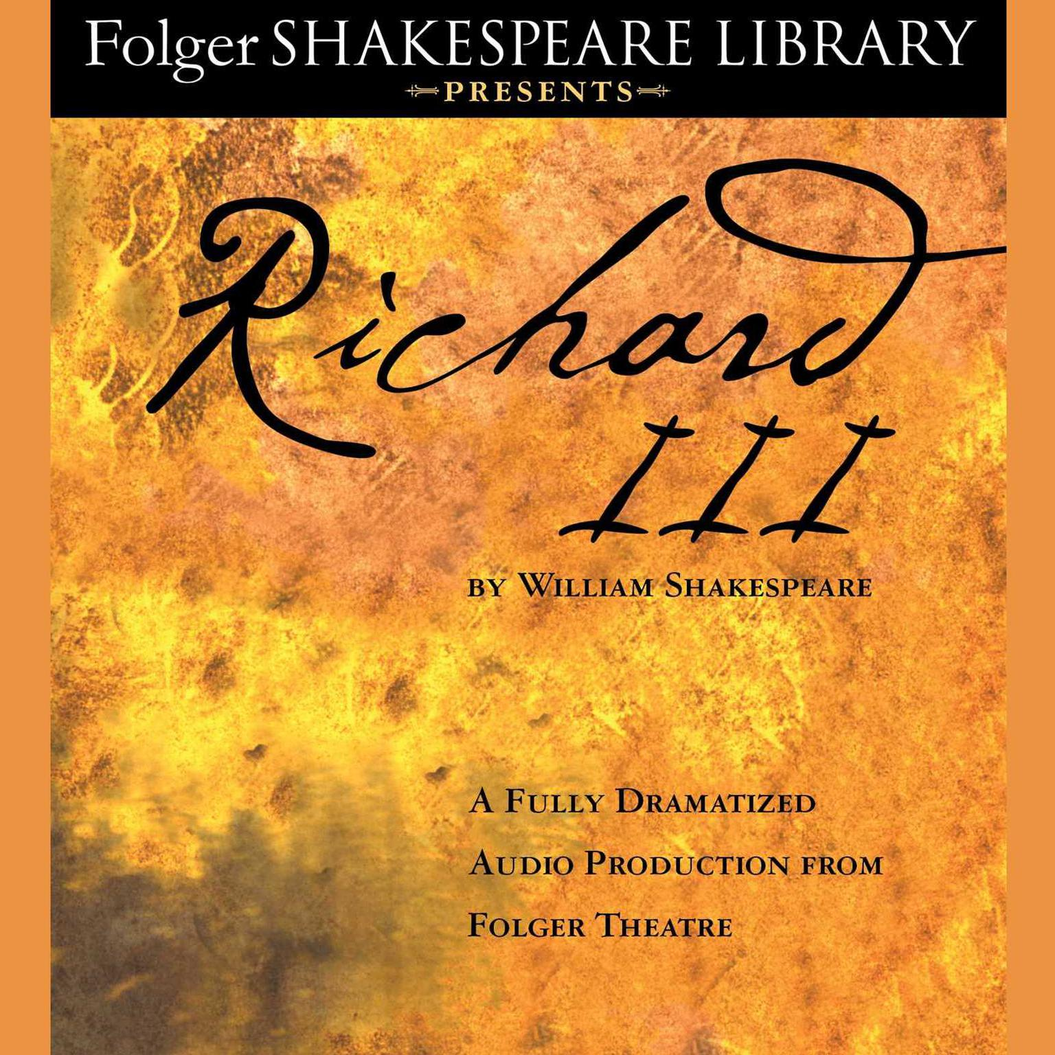Printable Richard III: Folger Theatre Shakespeare Library Presents Audiobook Cover Art