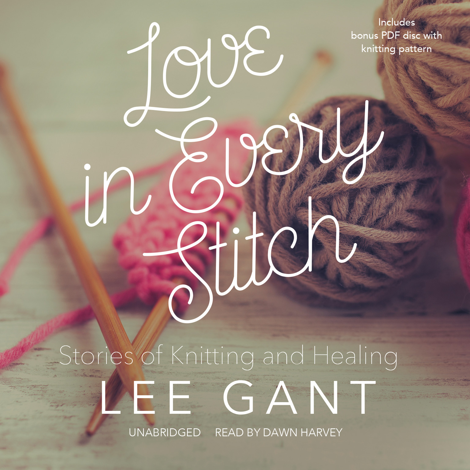 Printable Love in Every Stitch: Stories of Knitting and Healing Audiobook Cover Art