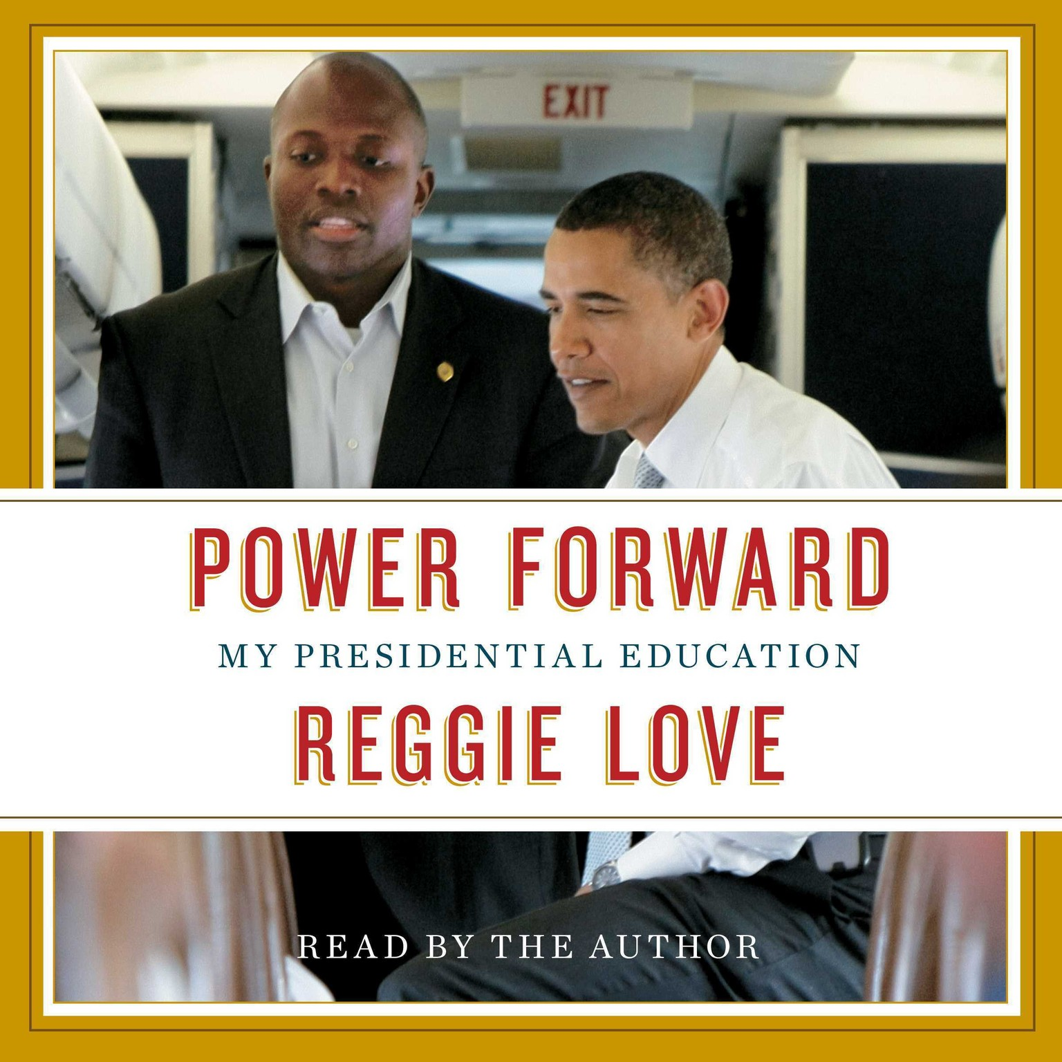 Printable Power Forward: My Presidential Education Audiobook Cover Art