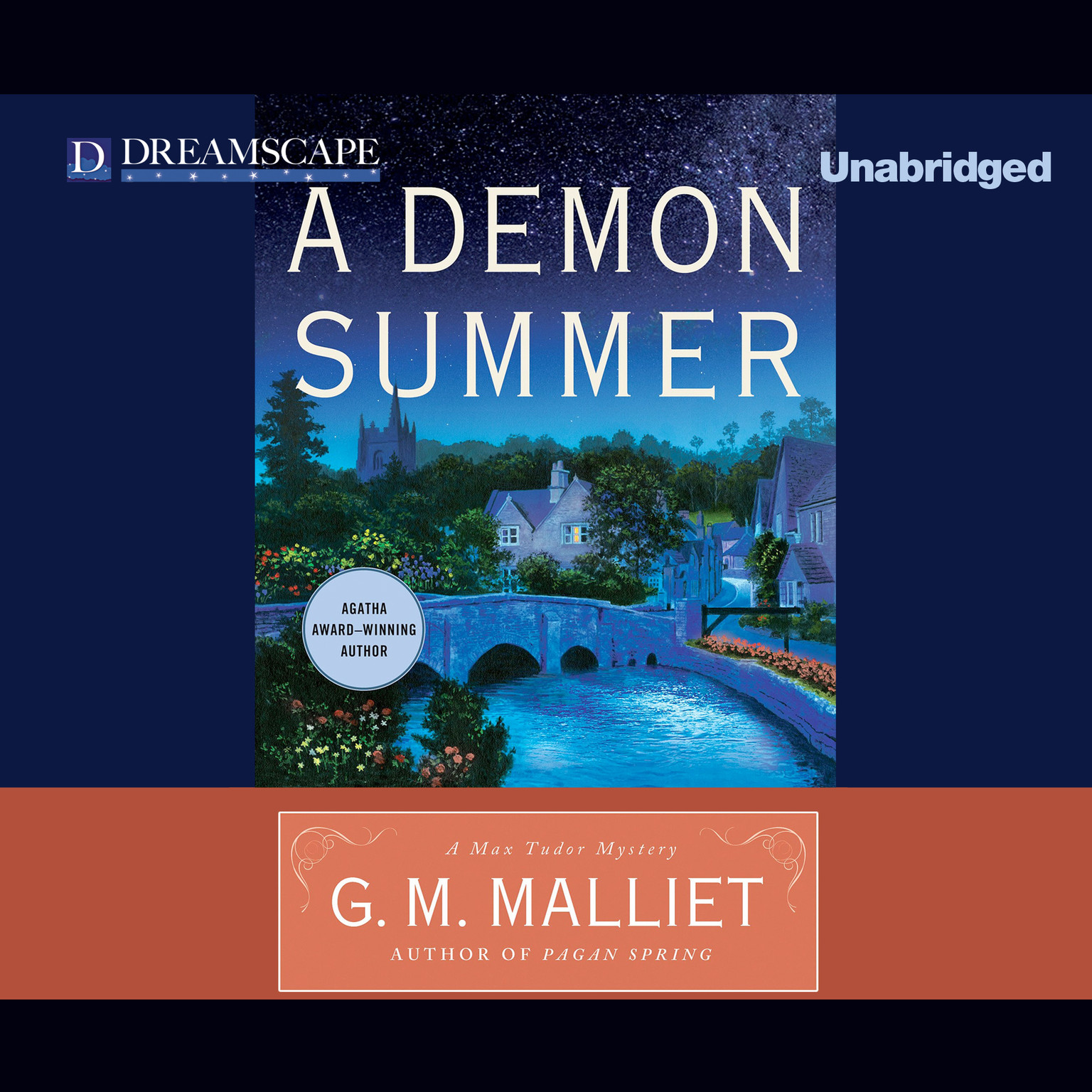 Printable A Demon Summer: A Max Tudor Mystery Audiobook Cover Art