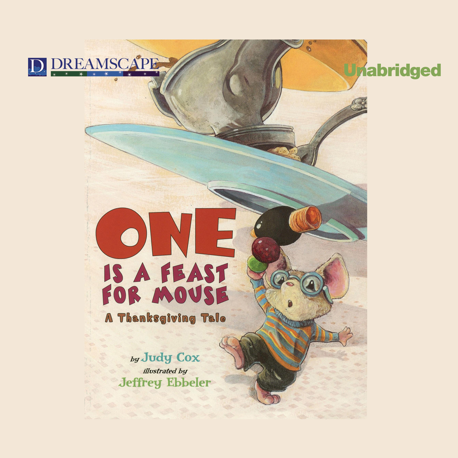Printable One Is a Feast for Mouse: A Thanksgiving Tale Audiobook Cover Art