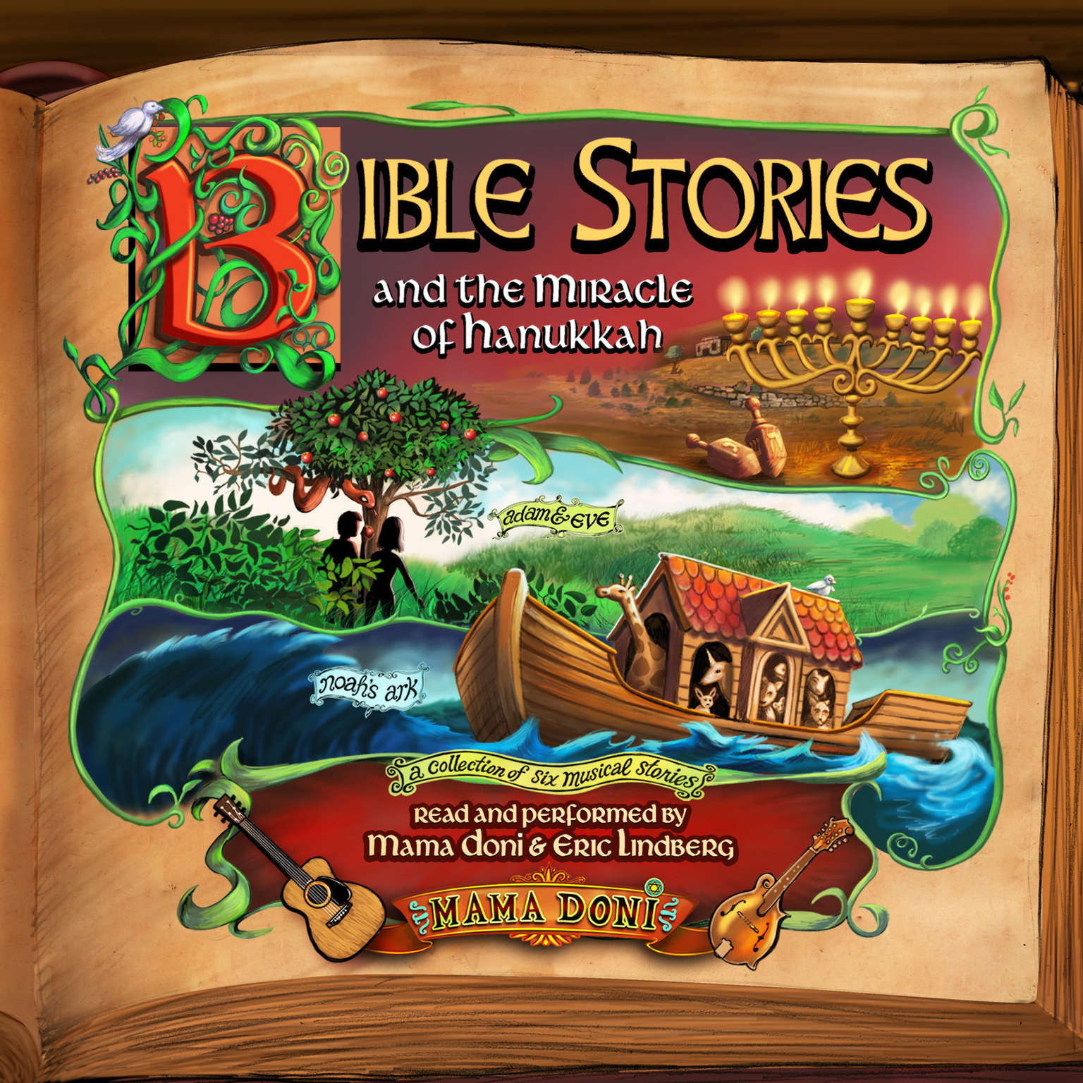 Printable Bible Stories and the Miracle of Hanukkah Audiobook Cover Art