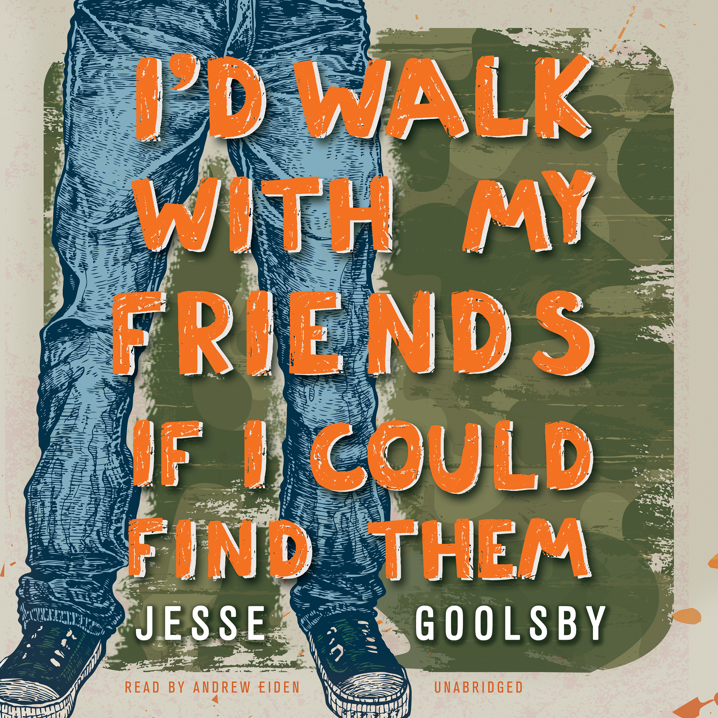 Printable I'd Walk with My Friends If I Could Find Them Audiobook Cover Art