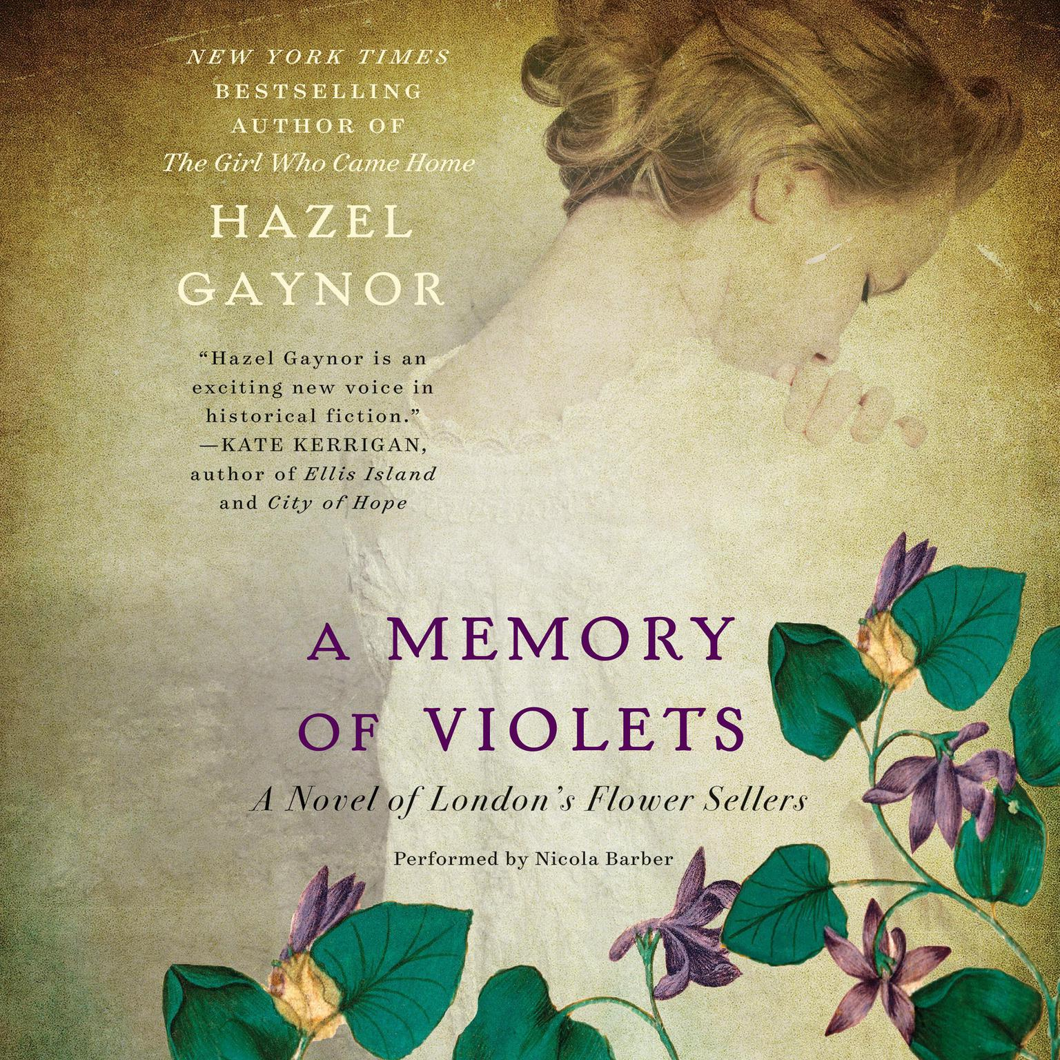Printable A Memory of Violets: A Novel of London's Flower Sellers Audiobook Cover Art