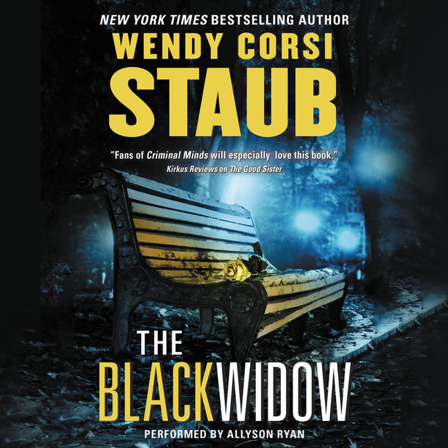 Printable The Black Widow Audiobook Cover Art