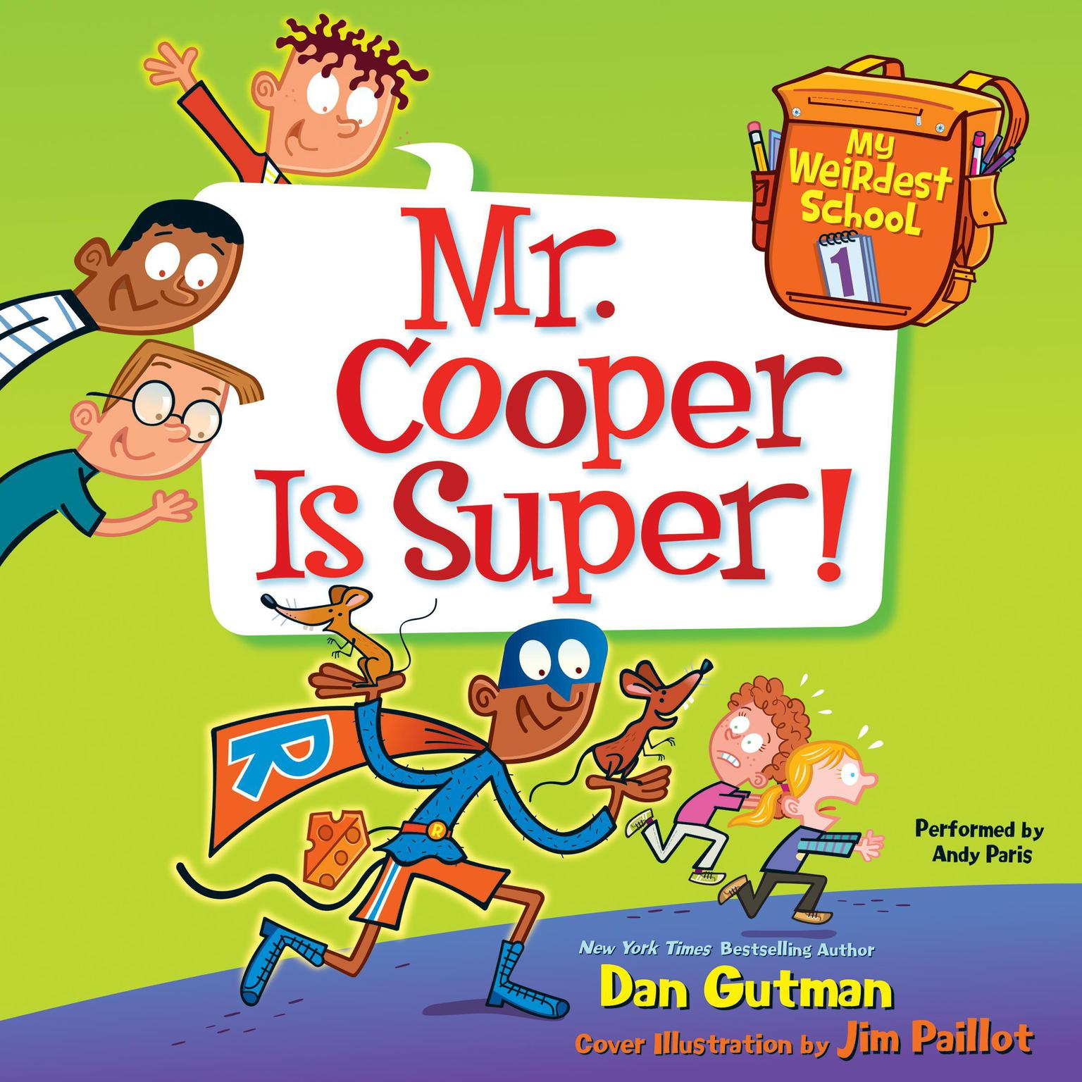 Printable Mr. Cooper Is Super! Audiobook Cover Art