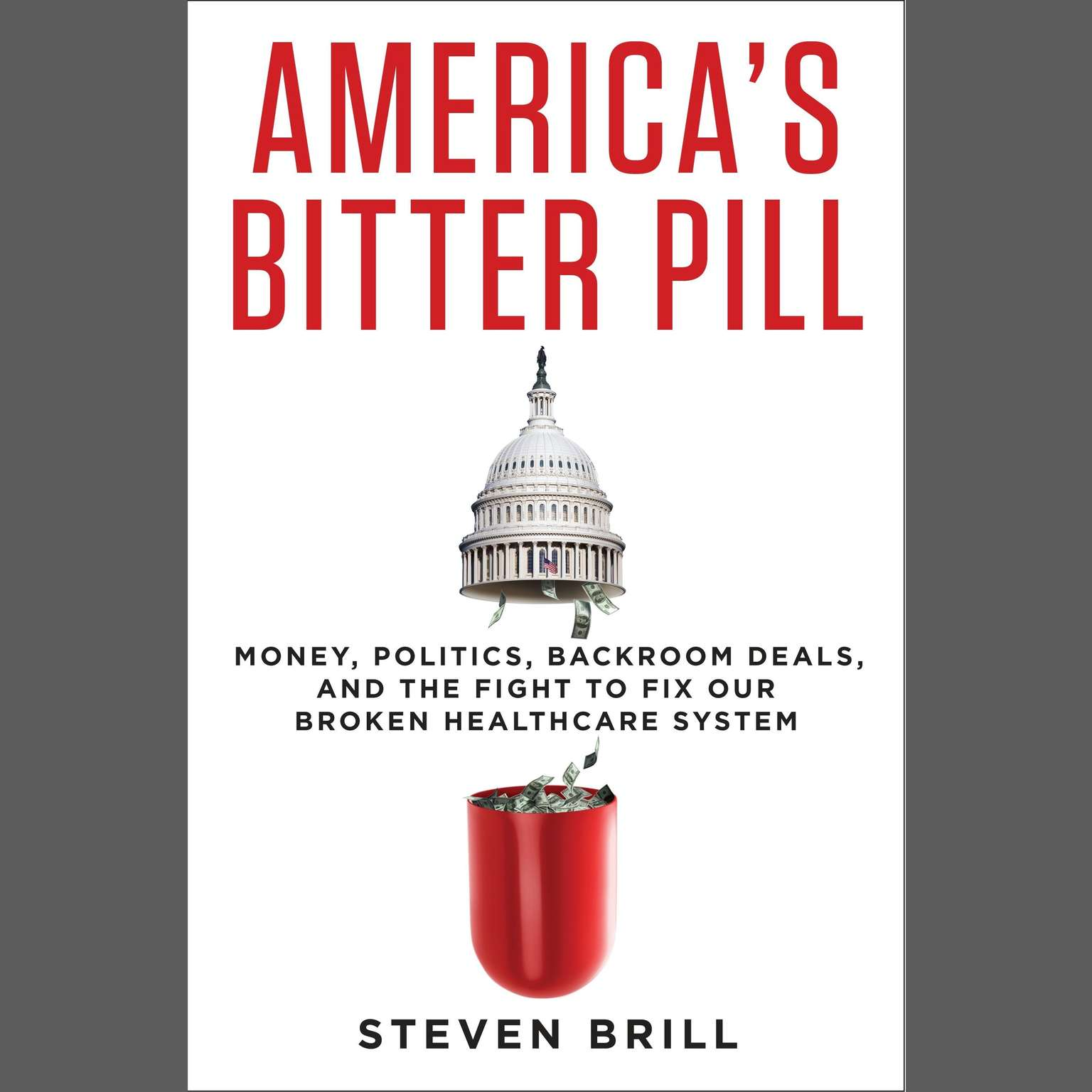 Printable America's Bitter Pill: Money, Politics, Backroom Deals, and the Fight to Fix Our Broken Healthcare System Audiobook Cover Art