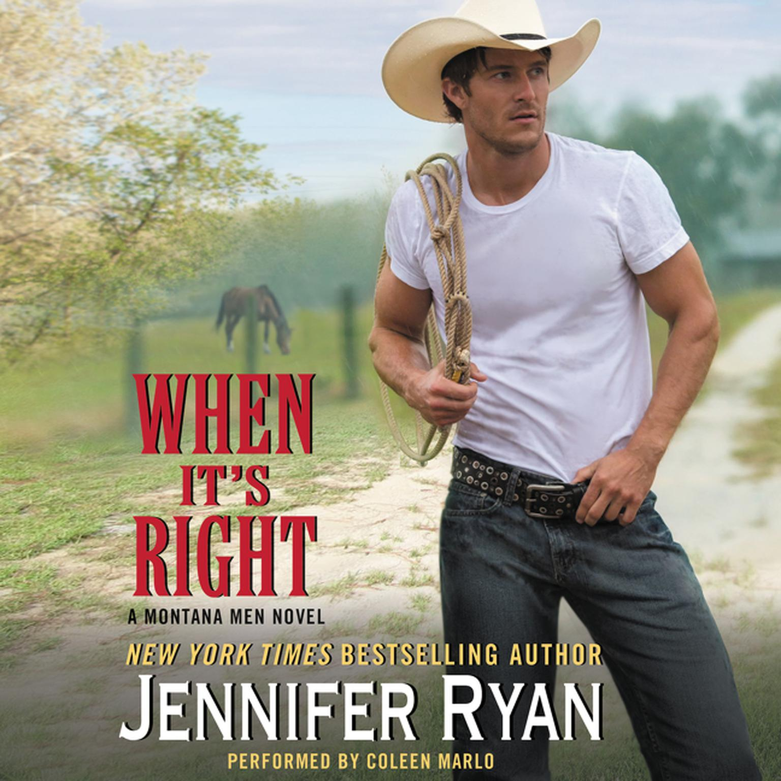 Printable When It's Right: A   Montana Men Novel Audiobook Cover Art