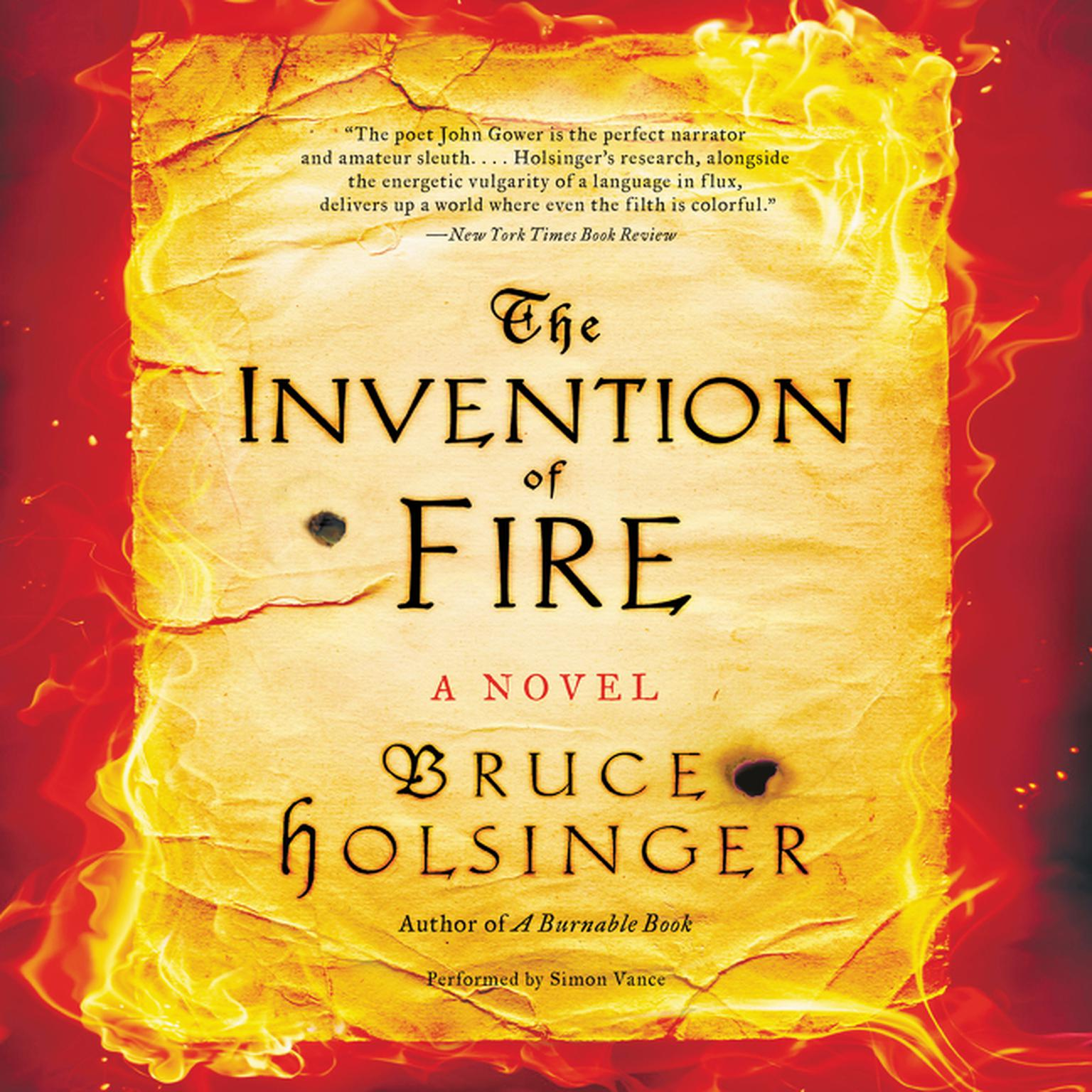 Printable The Invention of Fire: A Novel Audiobook Cover Art