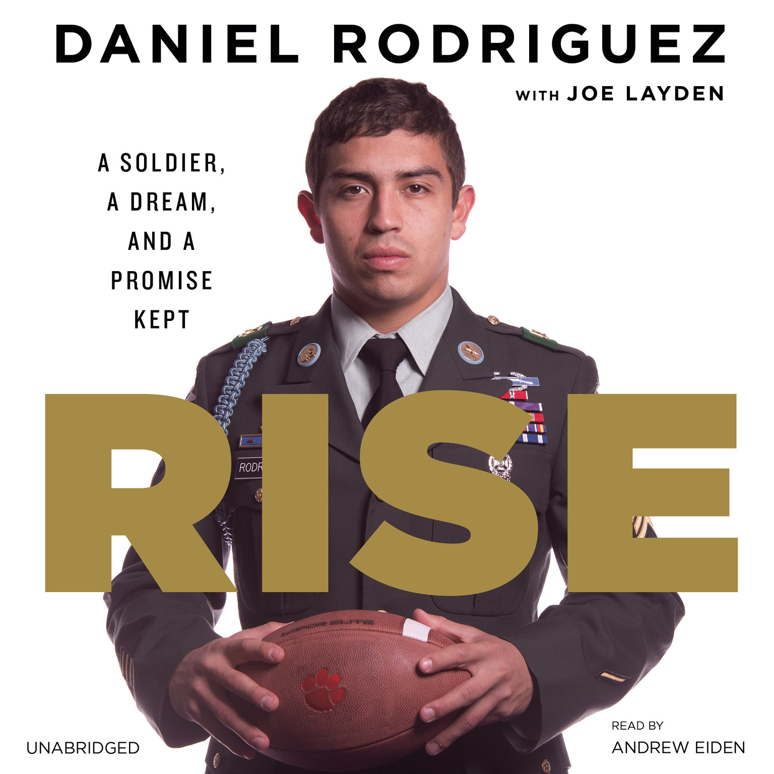 Printable Rise: A Soldier, a Dream, and a Promise Kept Audiobook Cover Art