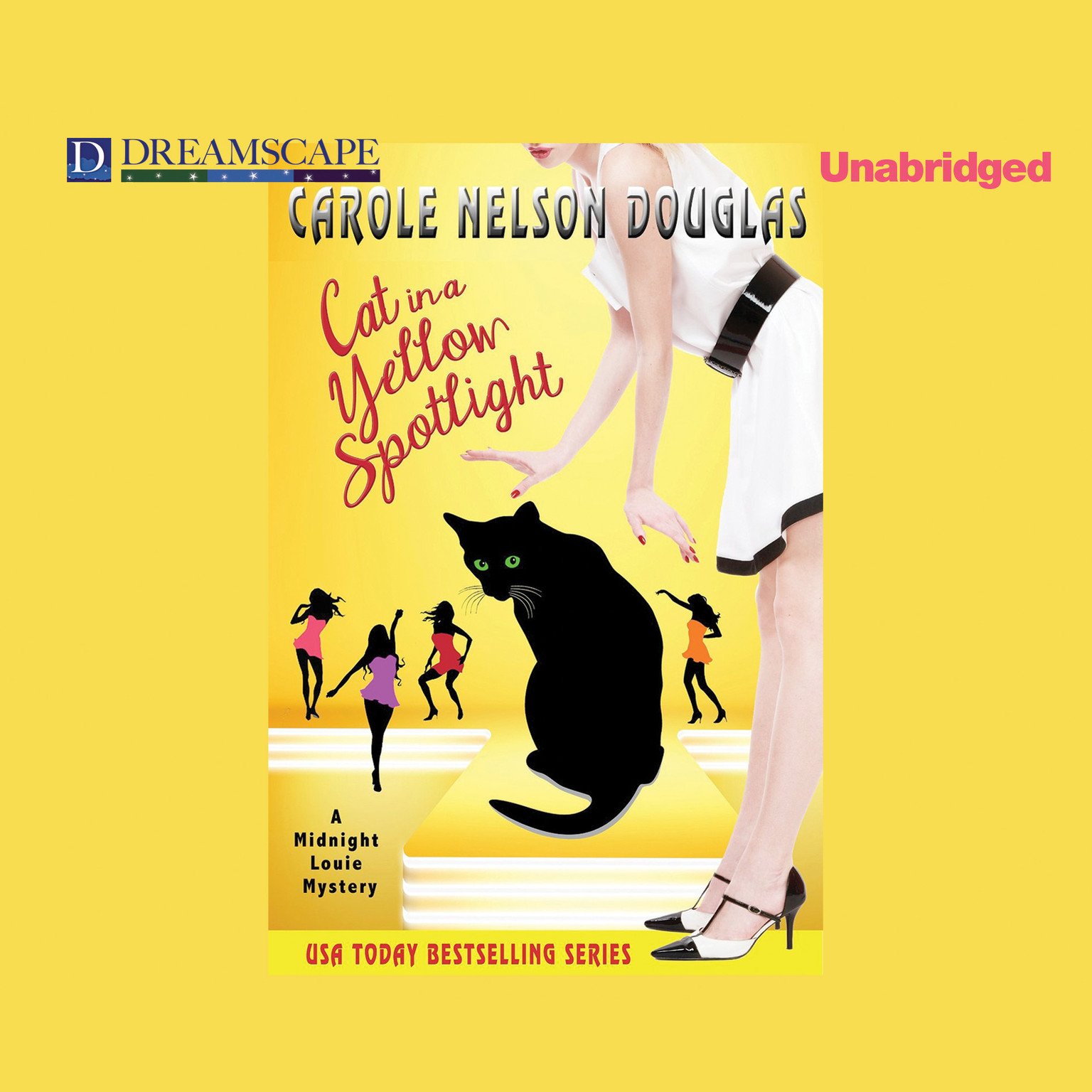 Printable Cat in a Yellow Spotlight: A Midnight Louie Mystery Audiobook Cover Art