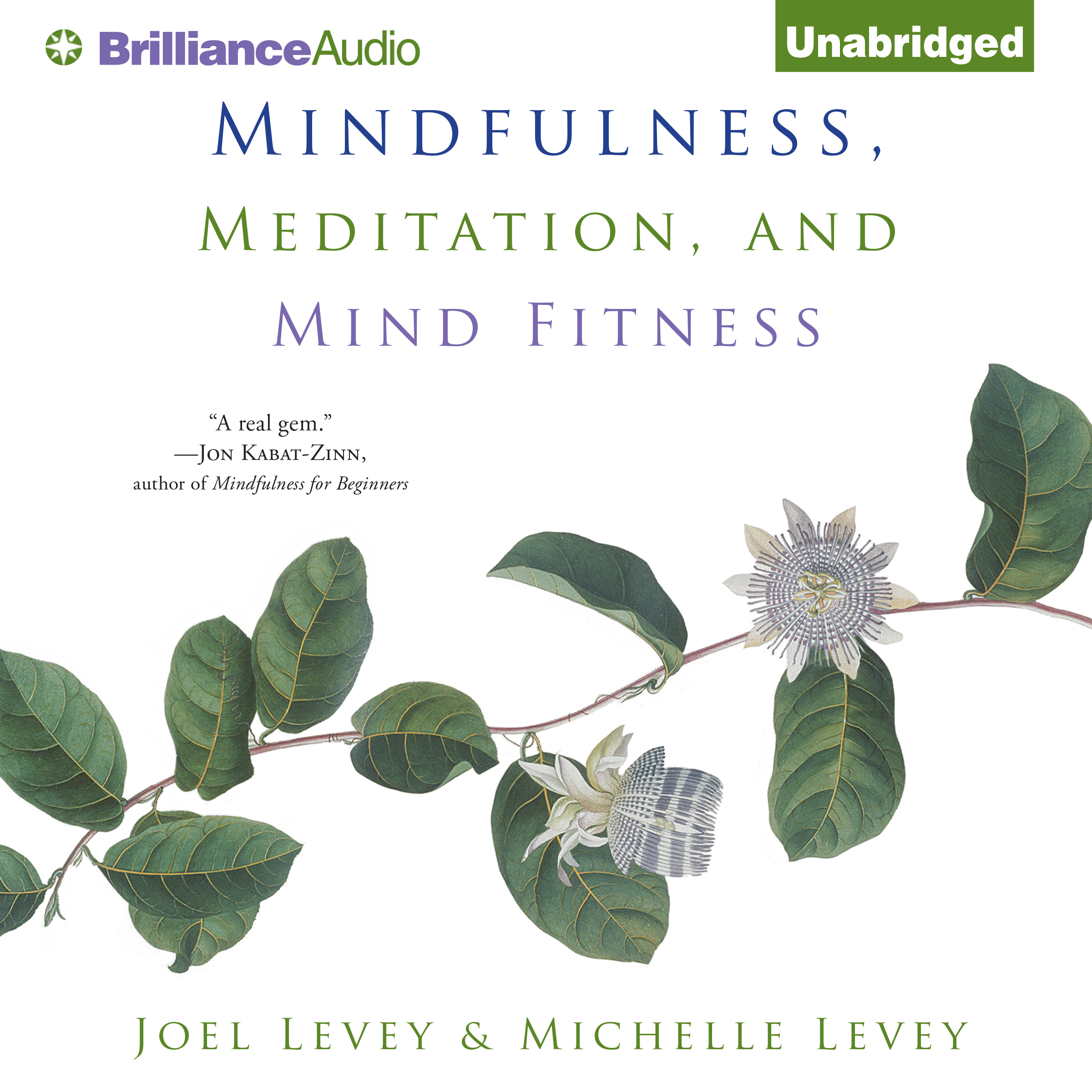 Printable Mindfulness, Meditation, and Mind Fitness Audiobook Cover Art