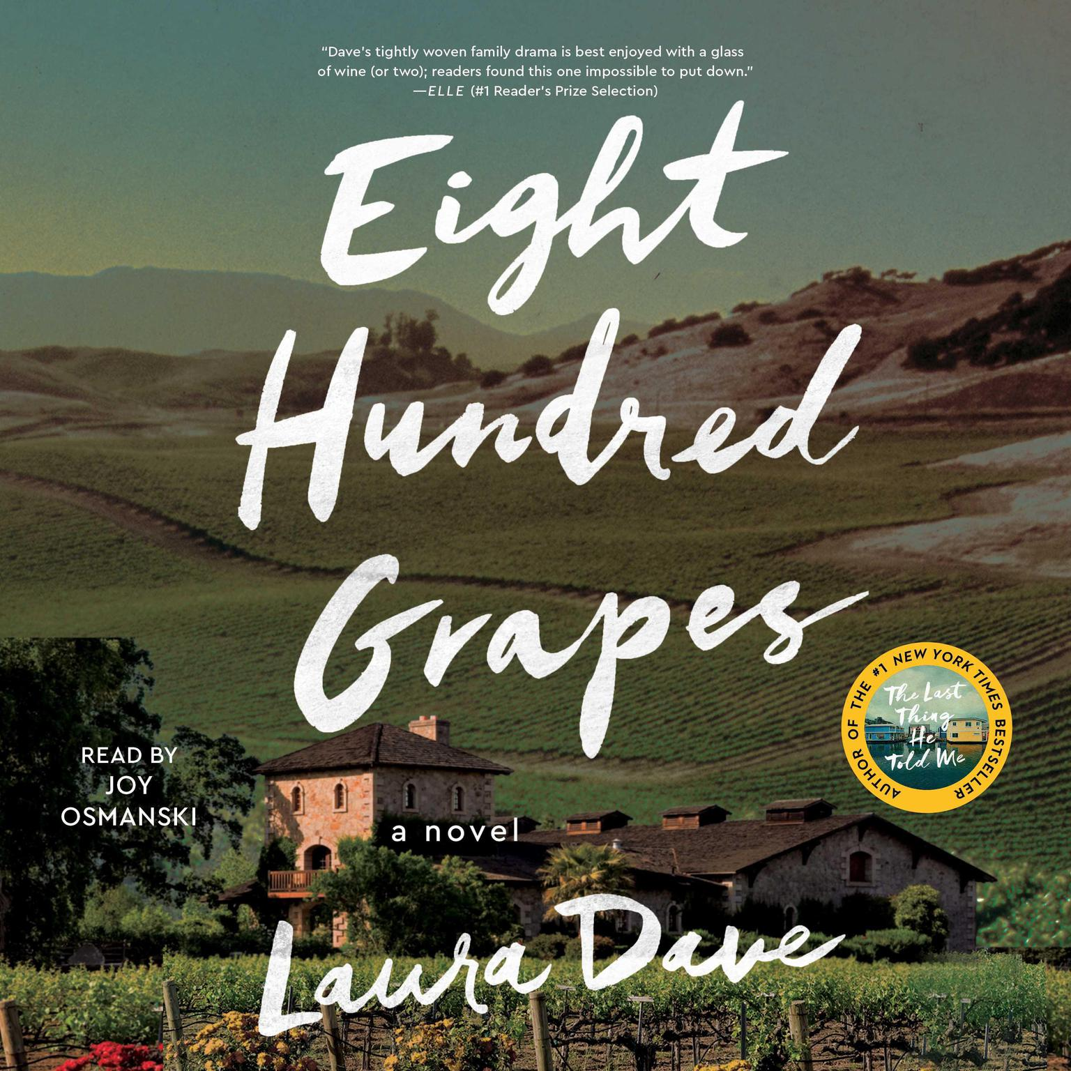 Printable Eight Hundred Grapes: A Novel Audiobook Cover Art