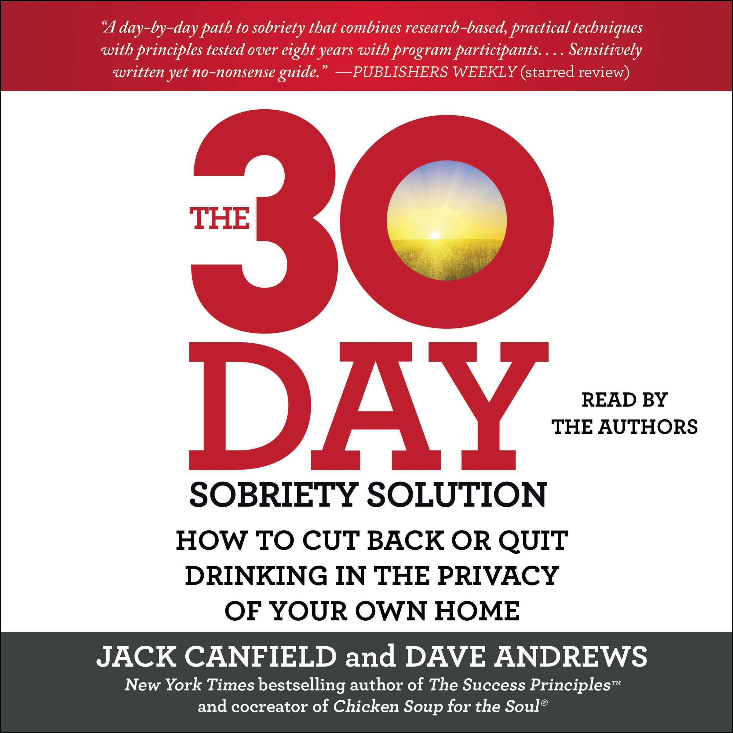 Printable The 30-Day Sobriety Solution: How to Cut Back or Quit Drinking in the Privacy of Your Own Home Audiobook Cover Art