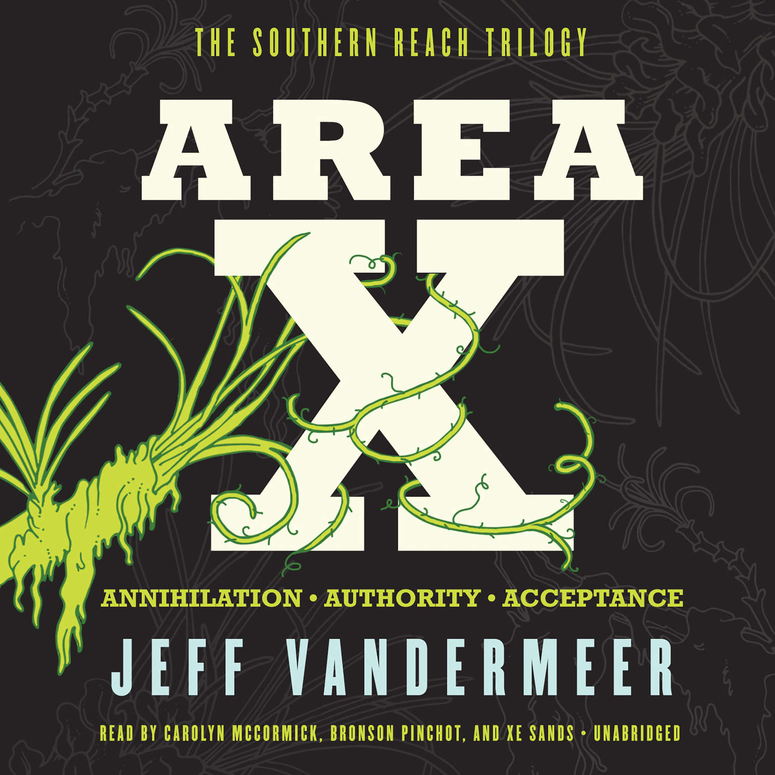 Printable Area X: The Southern Reach Trilogy—Annihilation, Authority, Acceptance Audiobook Cover Art