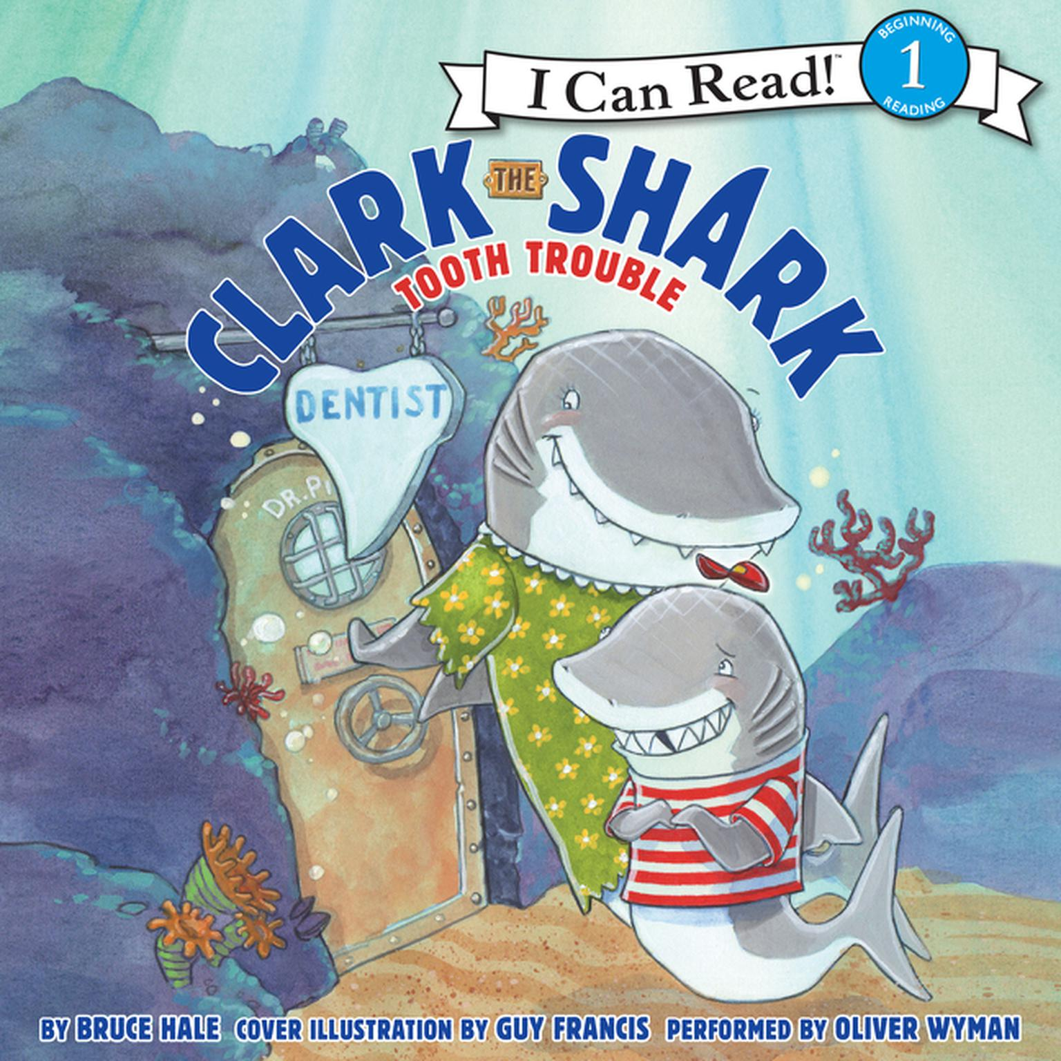 Printable Clark the Shark: Tooth Trouble Audiobook Cover Art