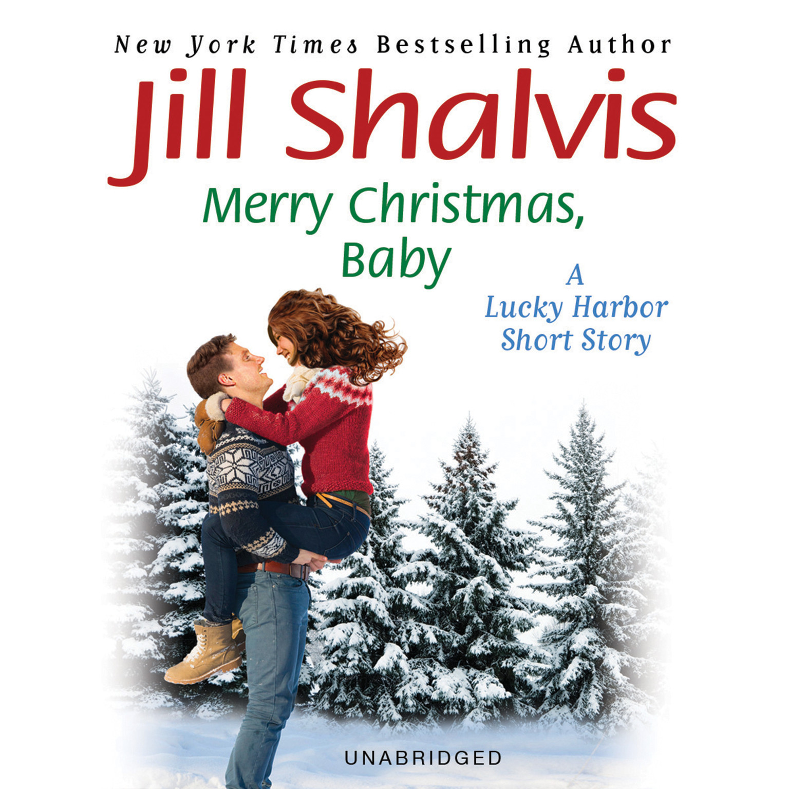 Printable Merry Christmas, Baby: A Lucky Harbor short story Audiobook Cover Art