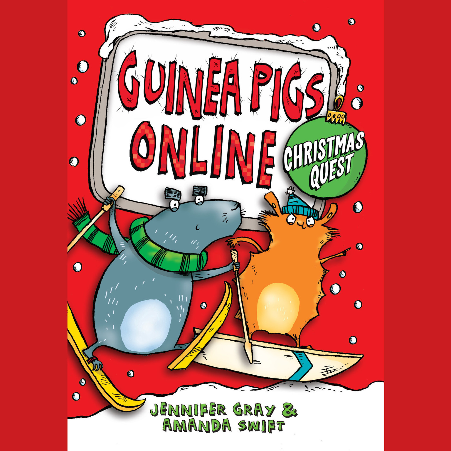Printable Guinea Pigs Online: Christmas Quest Audiobook Cover Art