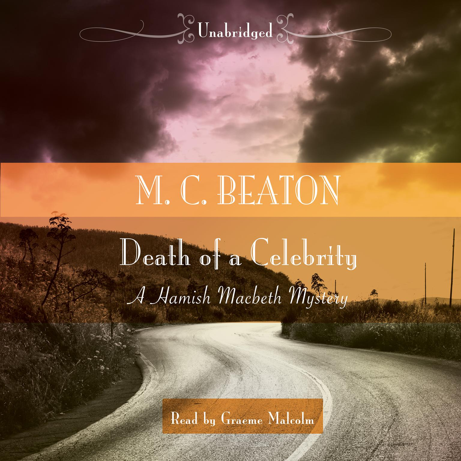 Printable Death of a Celebrity Audiobook Cover Art