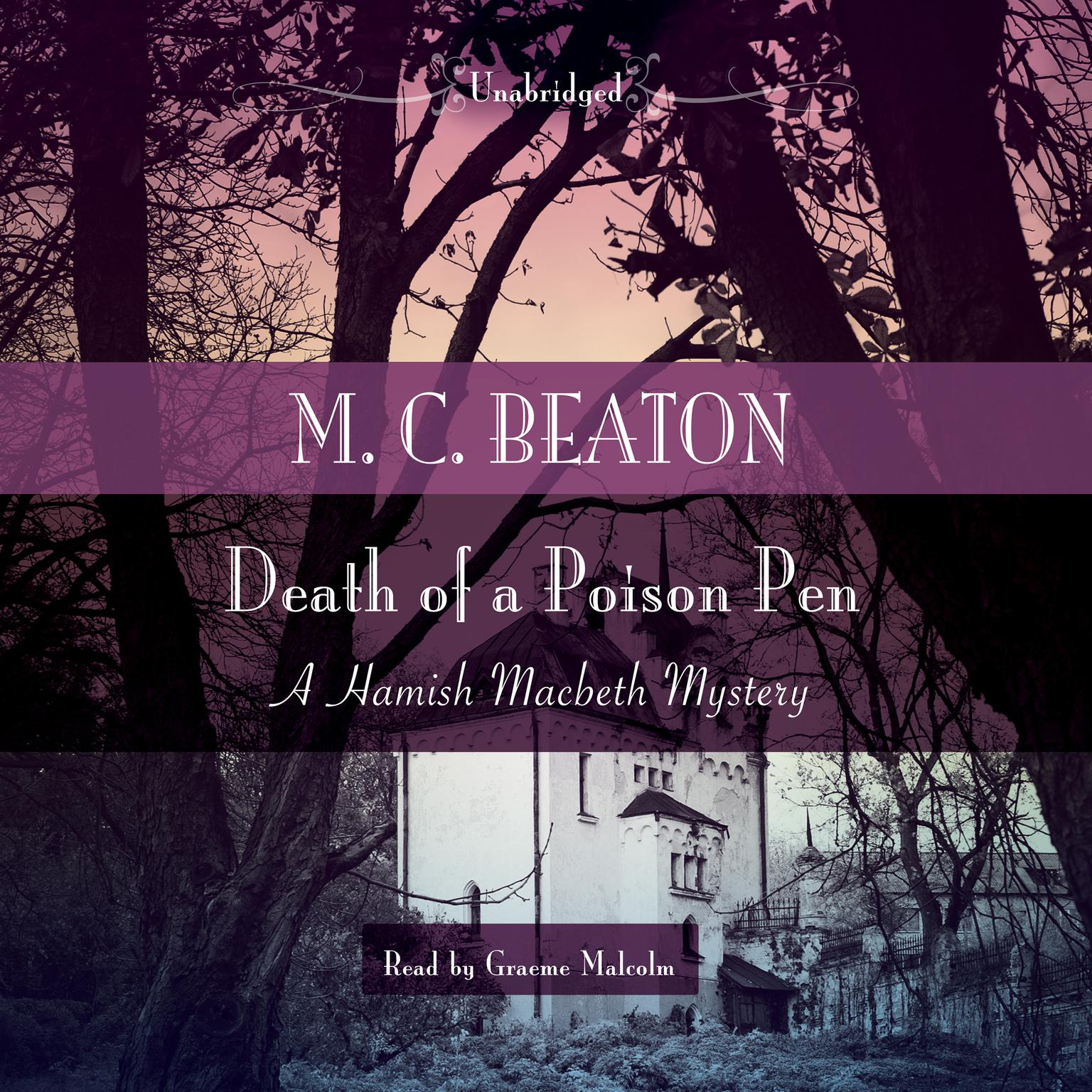 Printable Death of a Poison Pen Audiobook Cover Art